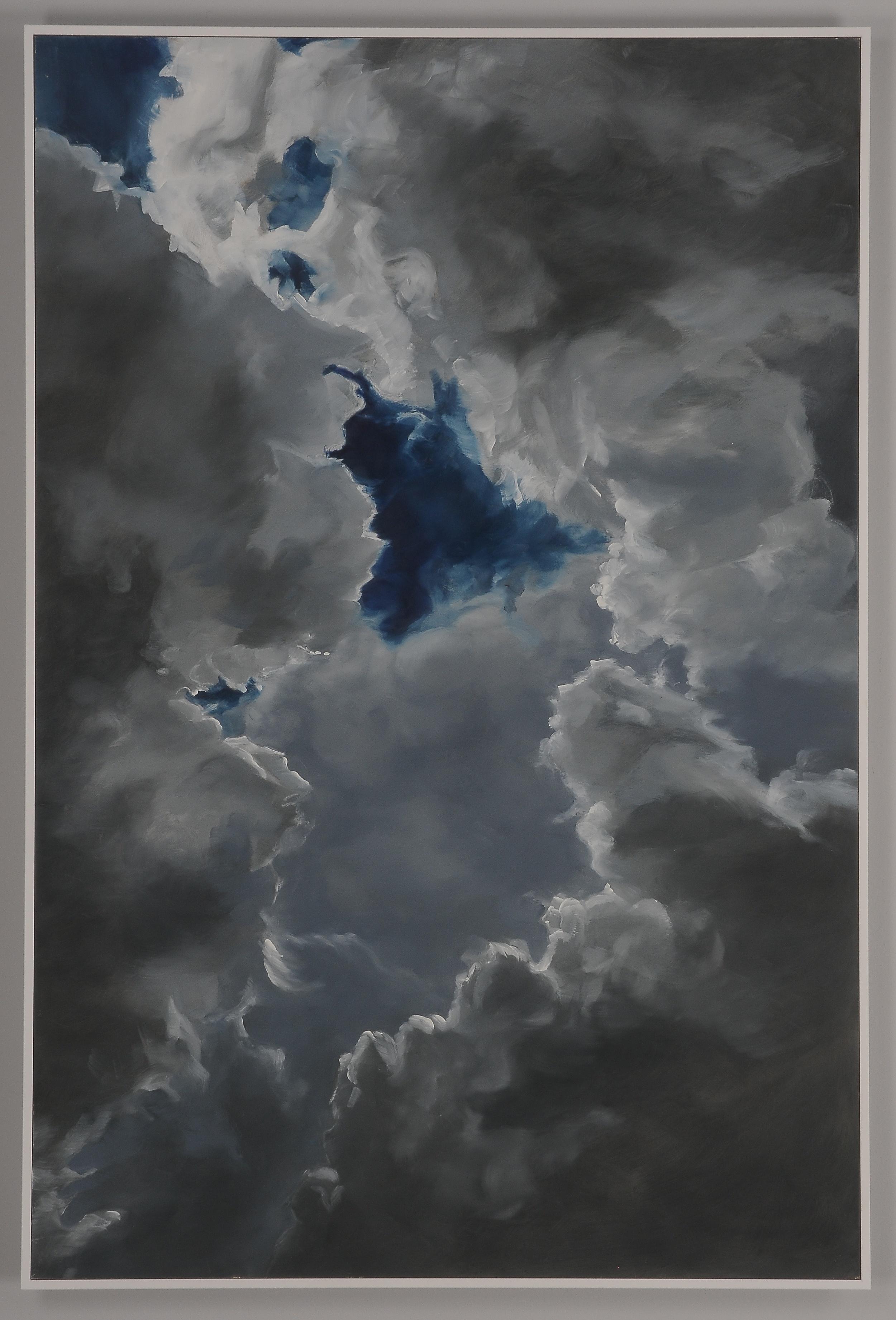 """Sky window  2013  36"""" H x 24"""" W  oil paint on gesso board"""