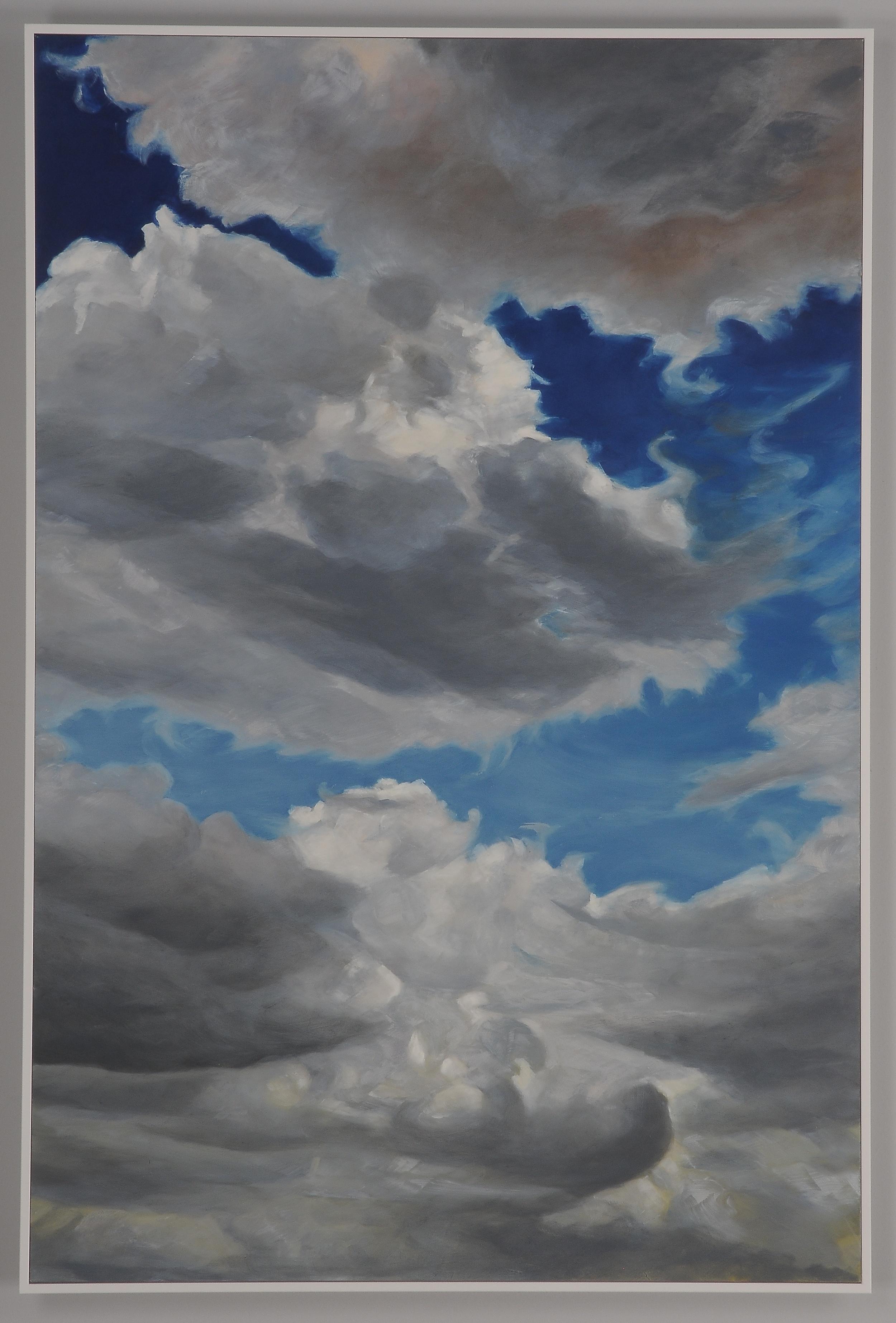 """Cloud Ships  2013  36"""" H x 24"""" W  oil paint on gesso board"""
