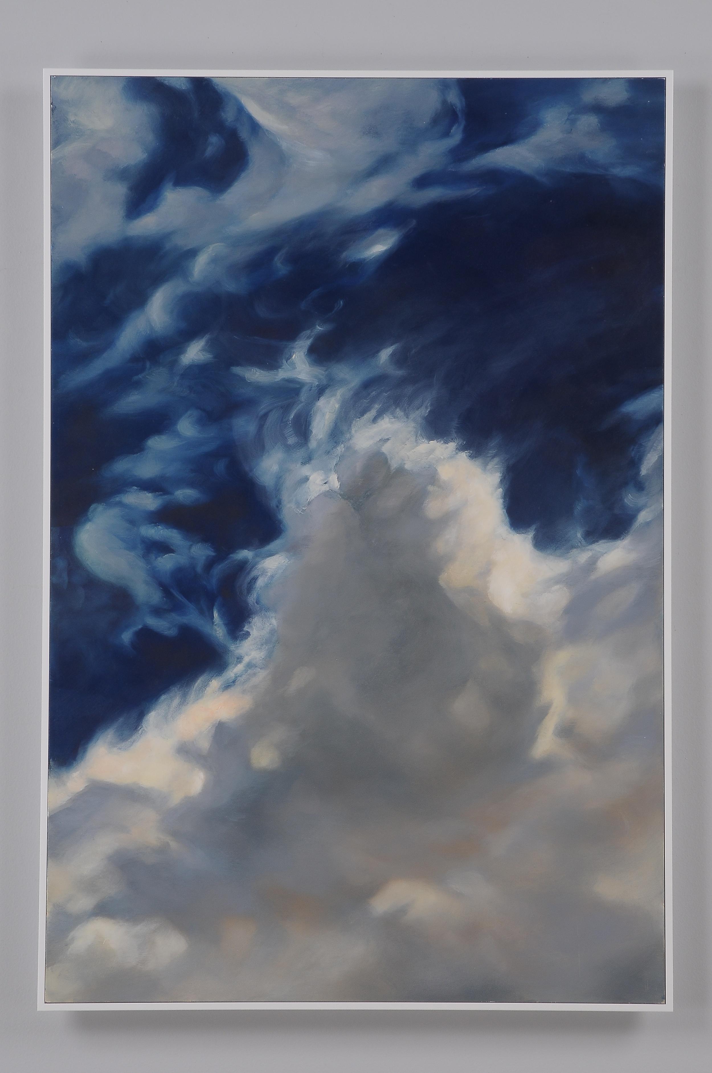 """Funnel cloud  2013  36"""" H x 24"""" W  oil paint on gesso board"""