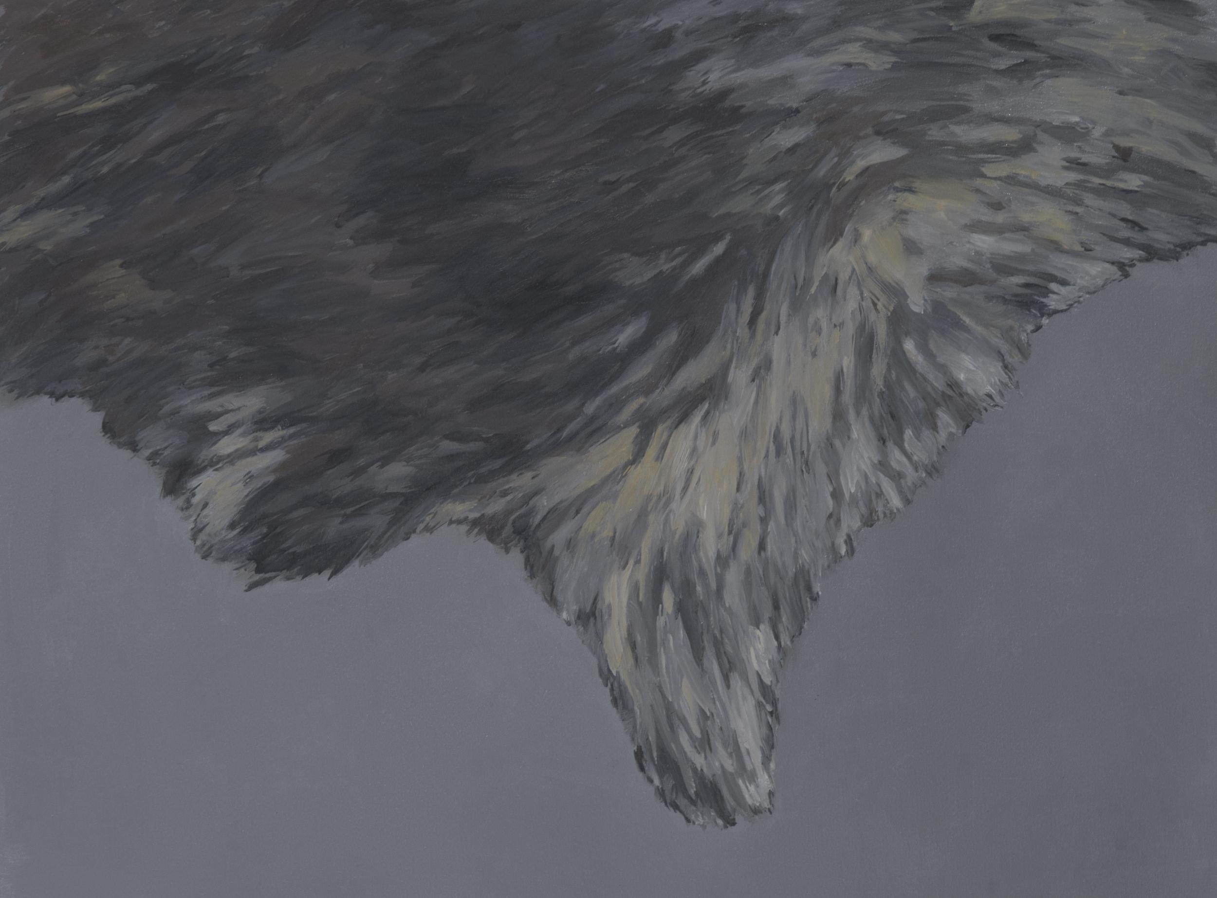 "Caroline Burton   Pelt (4) , 2014  Oil on canvas  32"" x 25"""