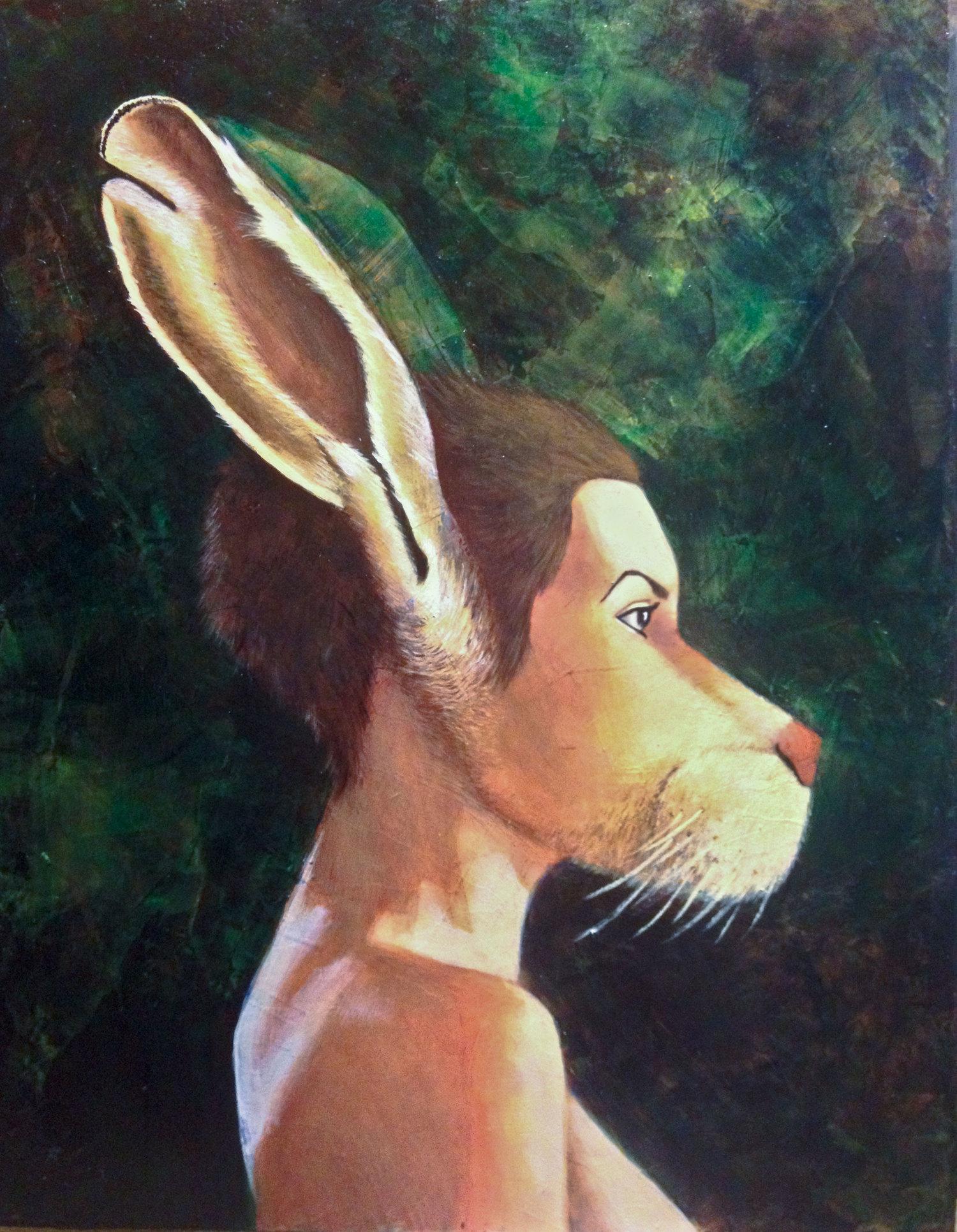 """I don't think I'm a fool, but I sure have been fooled,  2012  11"""" x 14""""  Acrylic  $300"""