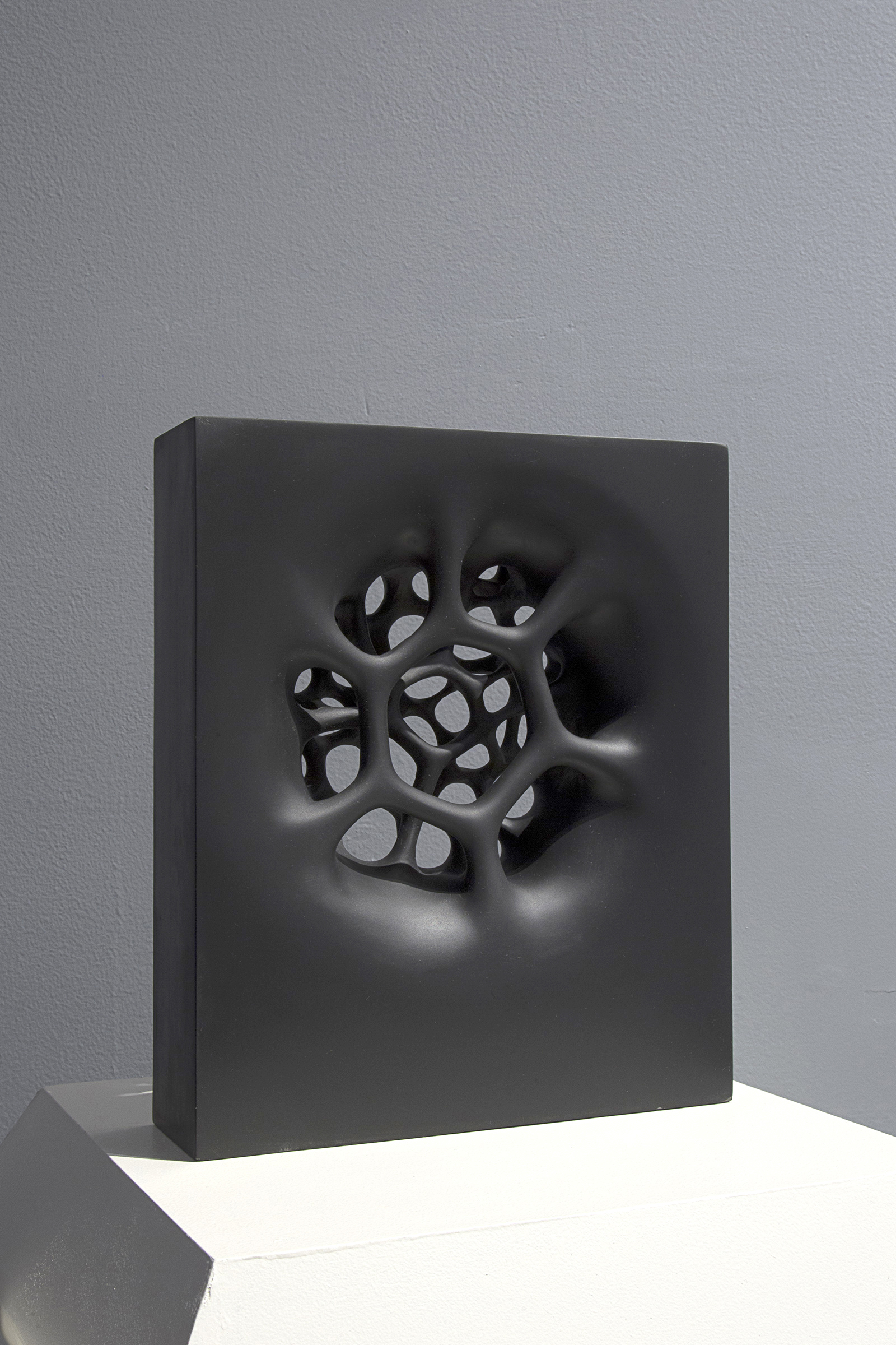 "Black Star, 2012  Black slate, 12"" x 10"" x 3""  $8000"