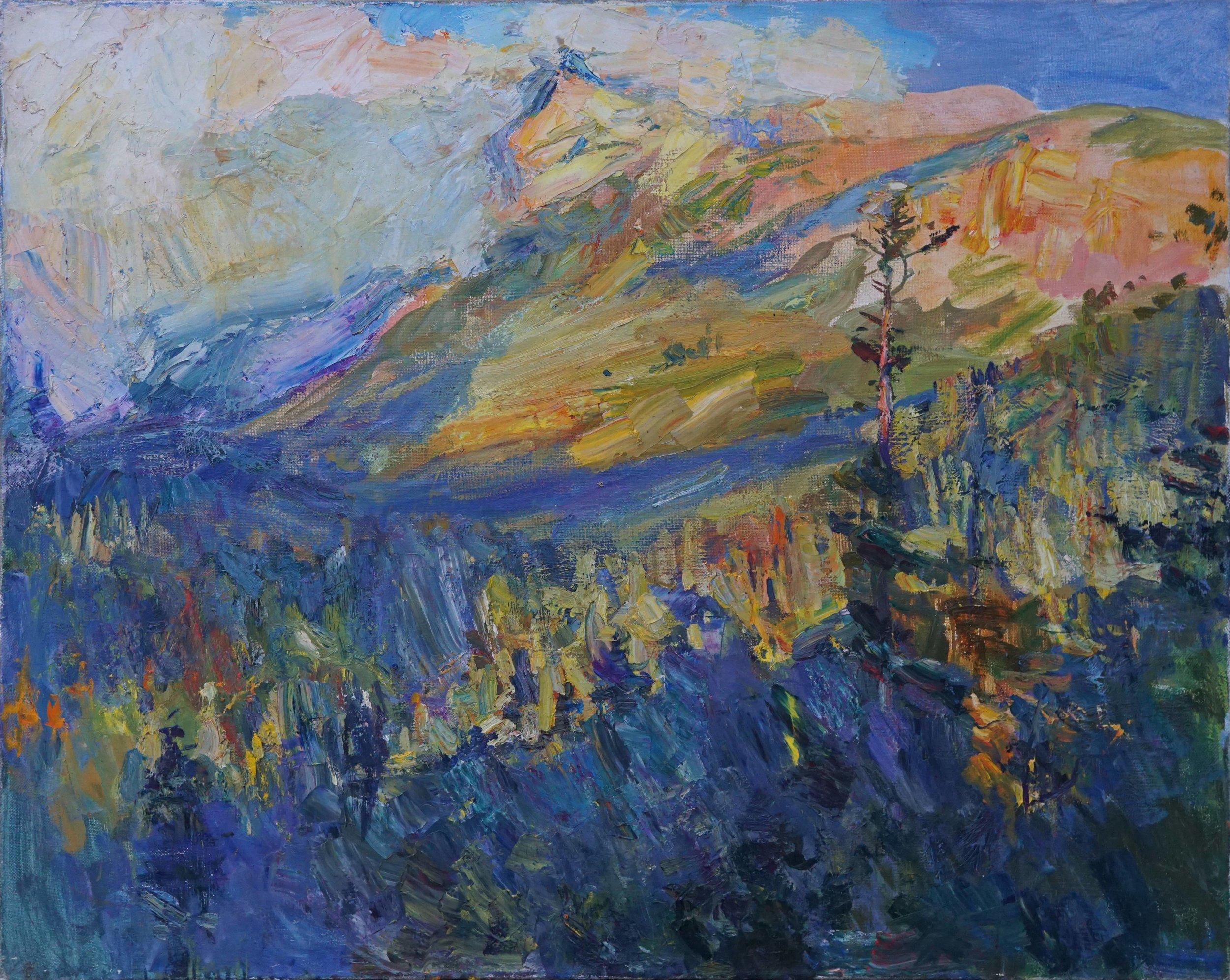 Ashten Mountain (Caucasus)  at Sunrise  51 1 2 x 41 1 2  Oil,Linen.jpg