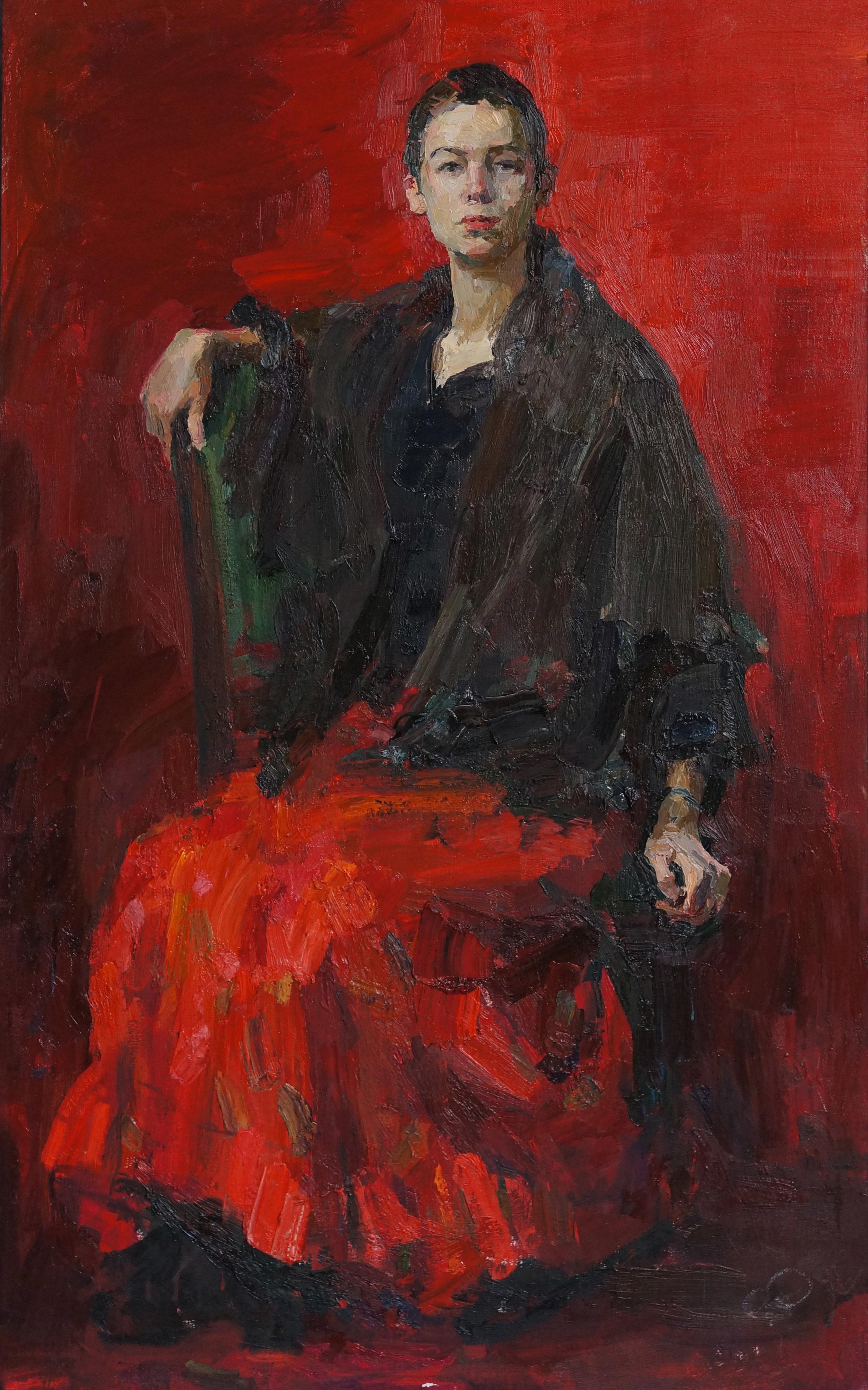 Red portrait, 47 1 4 x 30, Oil,Linen.jpg