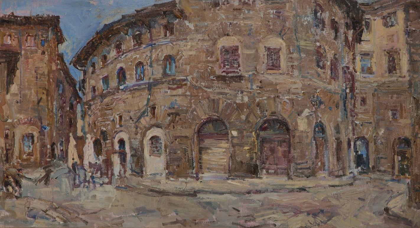 1.Florance street,oil on canvas, 45x80cm.jpg