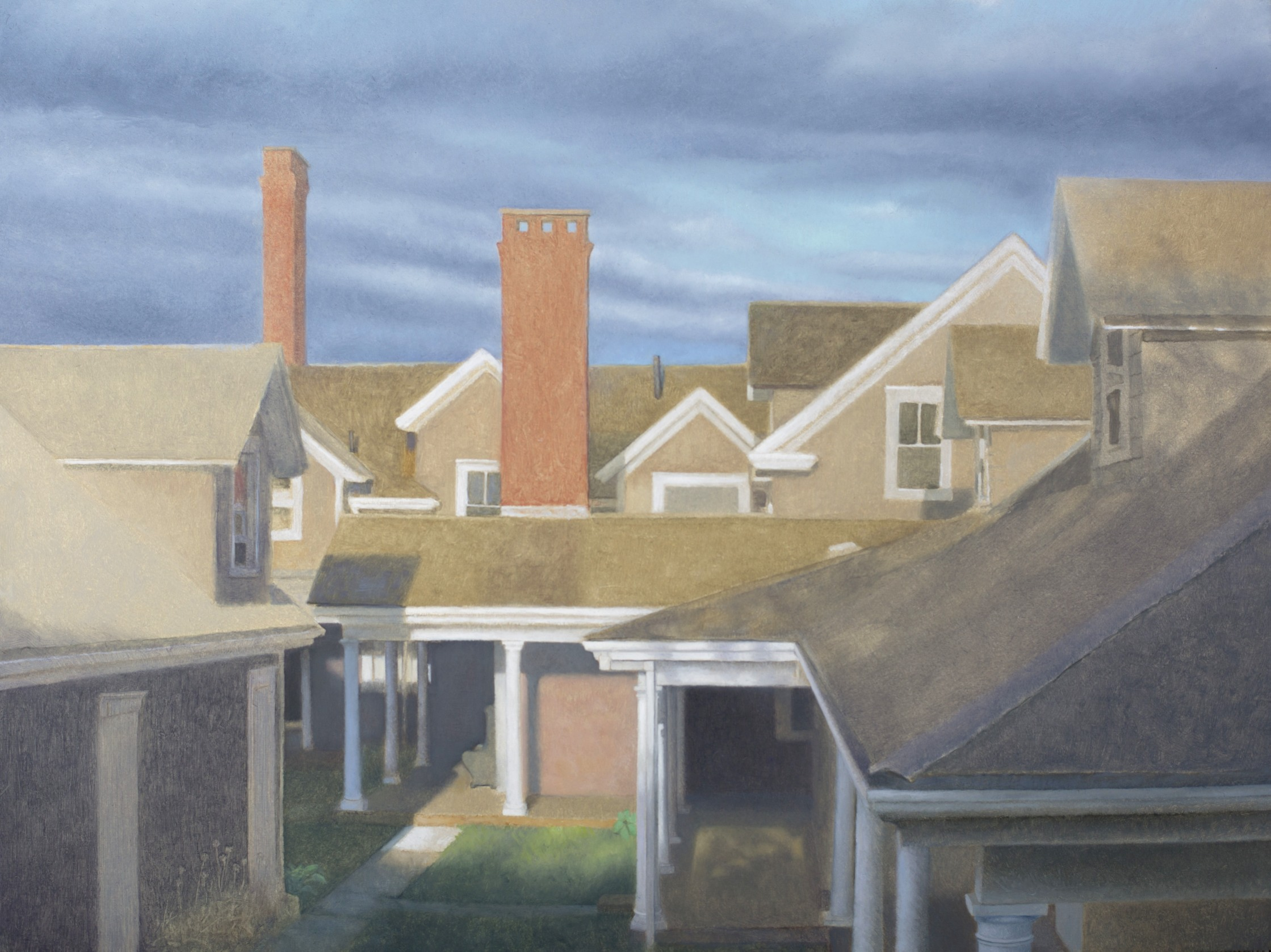 Avalon Roofline no. 2  oil on panel  15 x 20 inches  $3,600