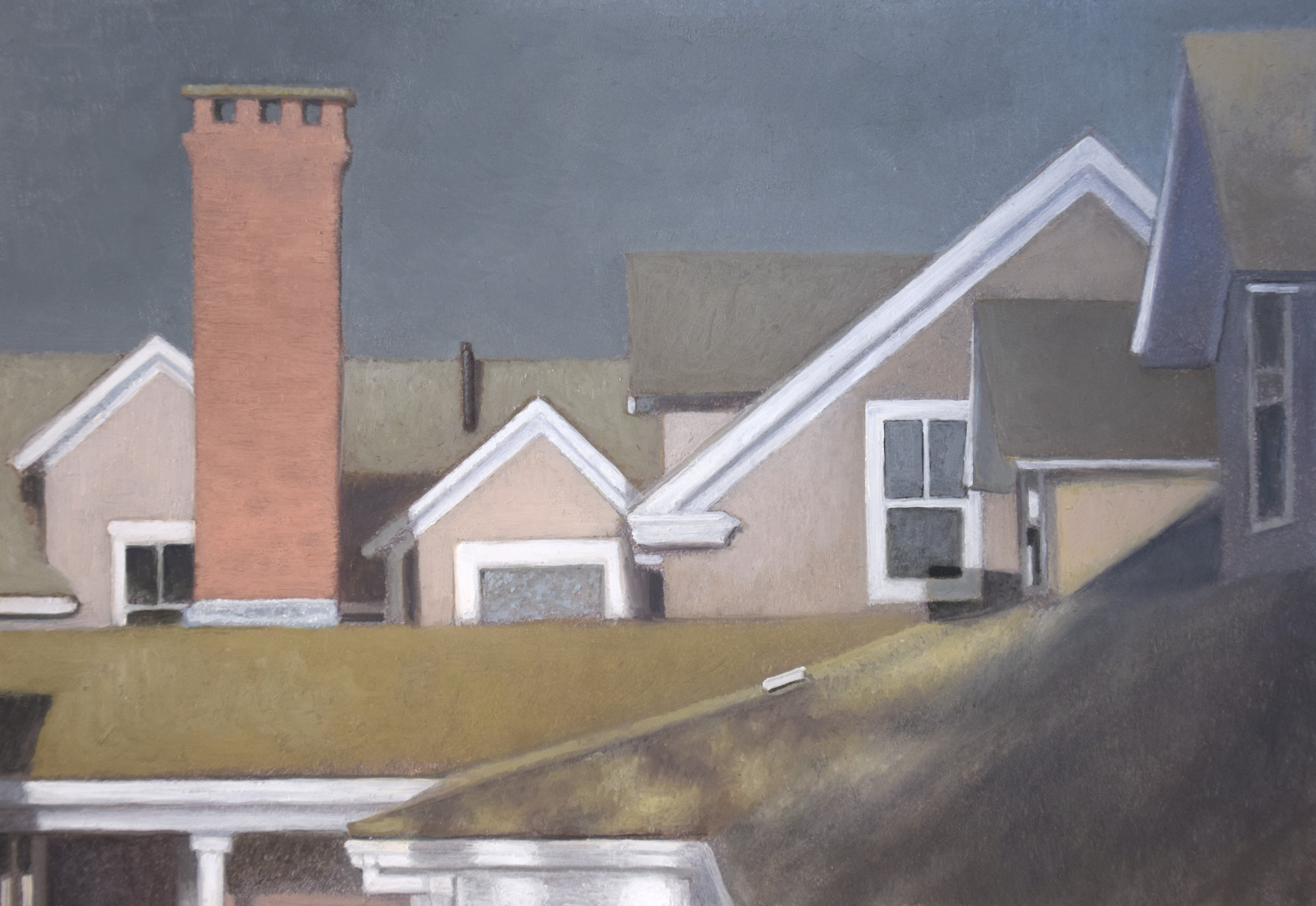 Avalon Roofline no. 1  oil on panel  4.5 x 6.5 inches  $1,000