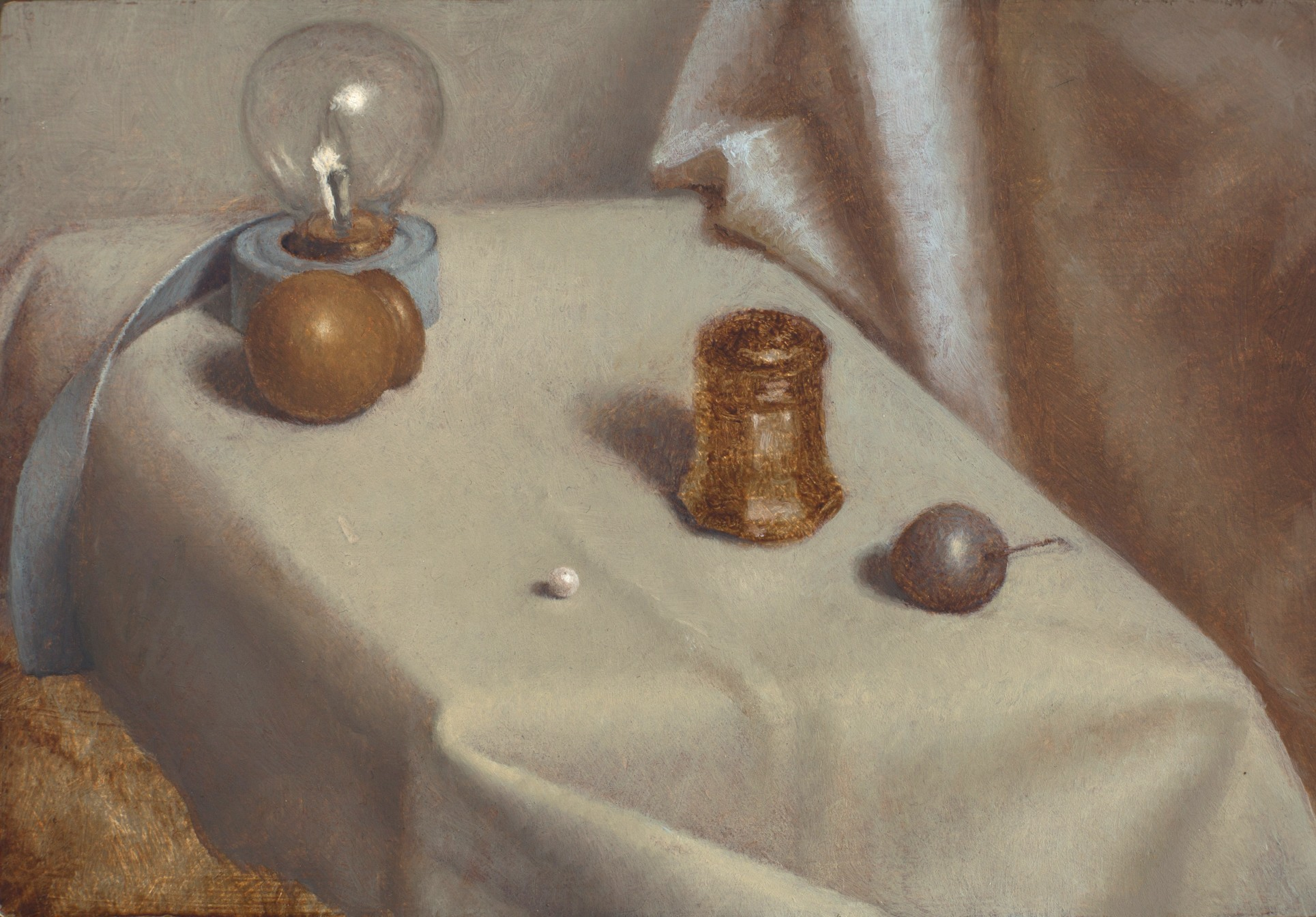 Still Life with Pearl  oil on panel  4.5 x 6.5 inches  $1,000