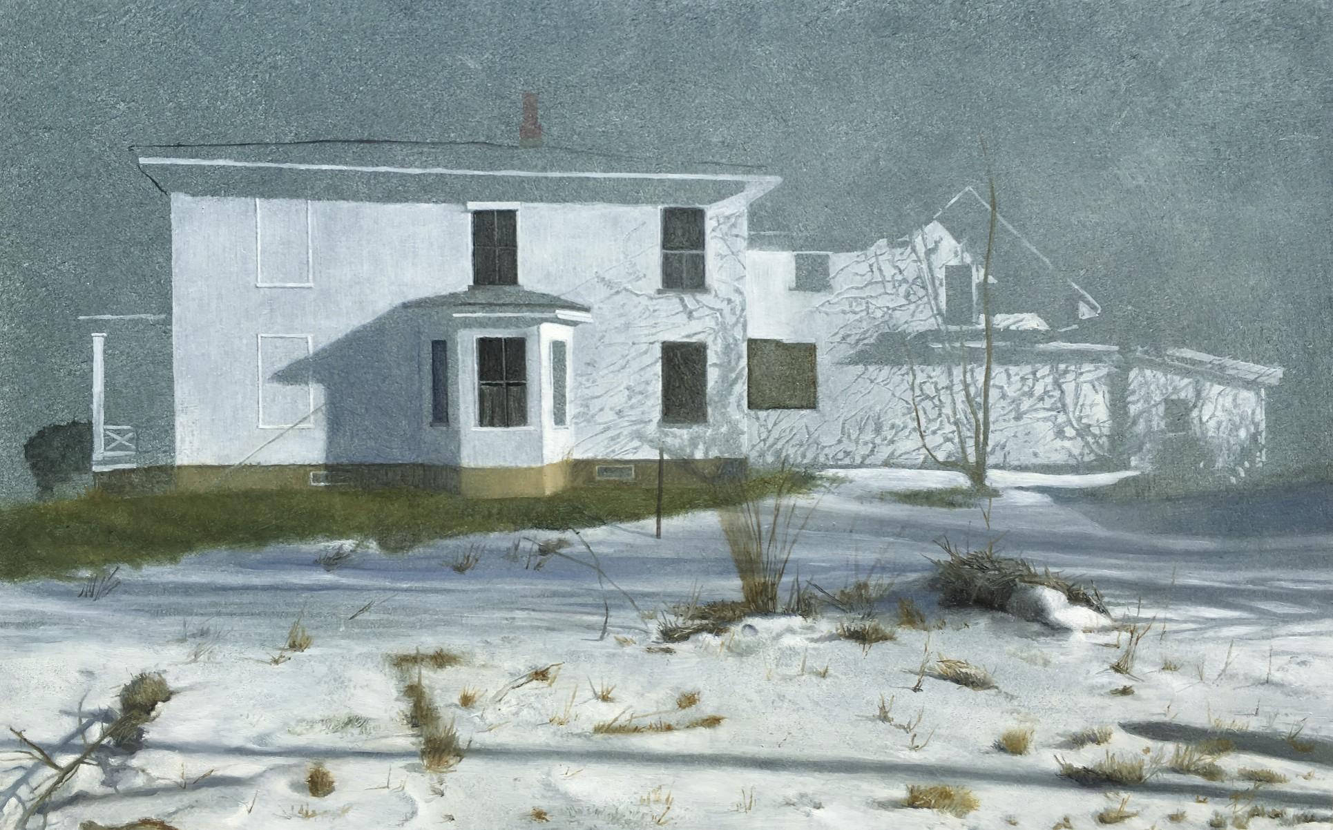 Vermont Snow Scene  oil on panel  10 x 16 inches  $2,600