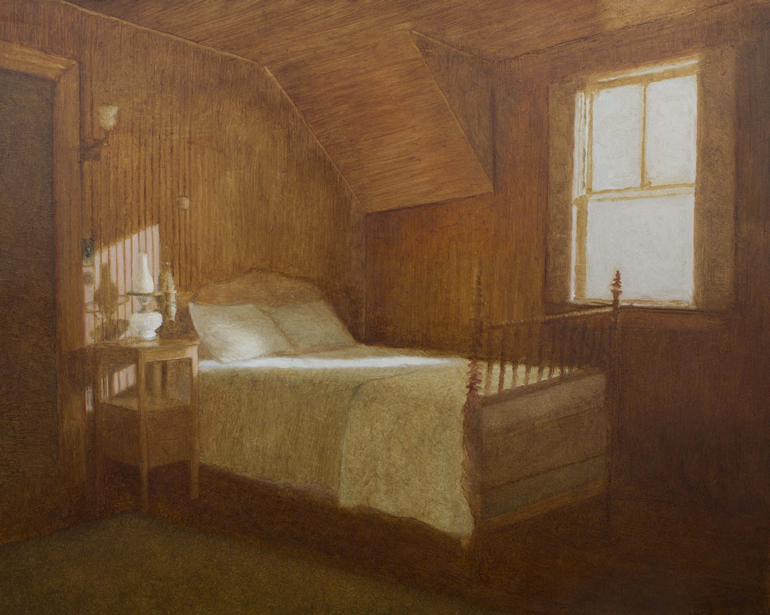 Room Three Last Clean  oil on panel  8 x 10 inches  $1,600
