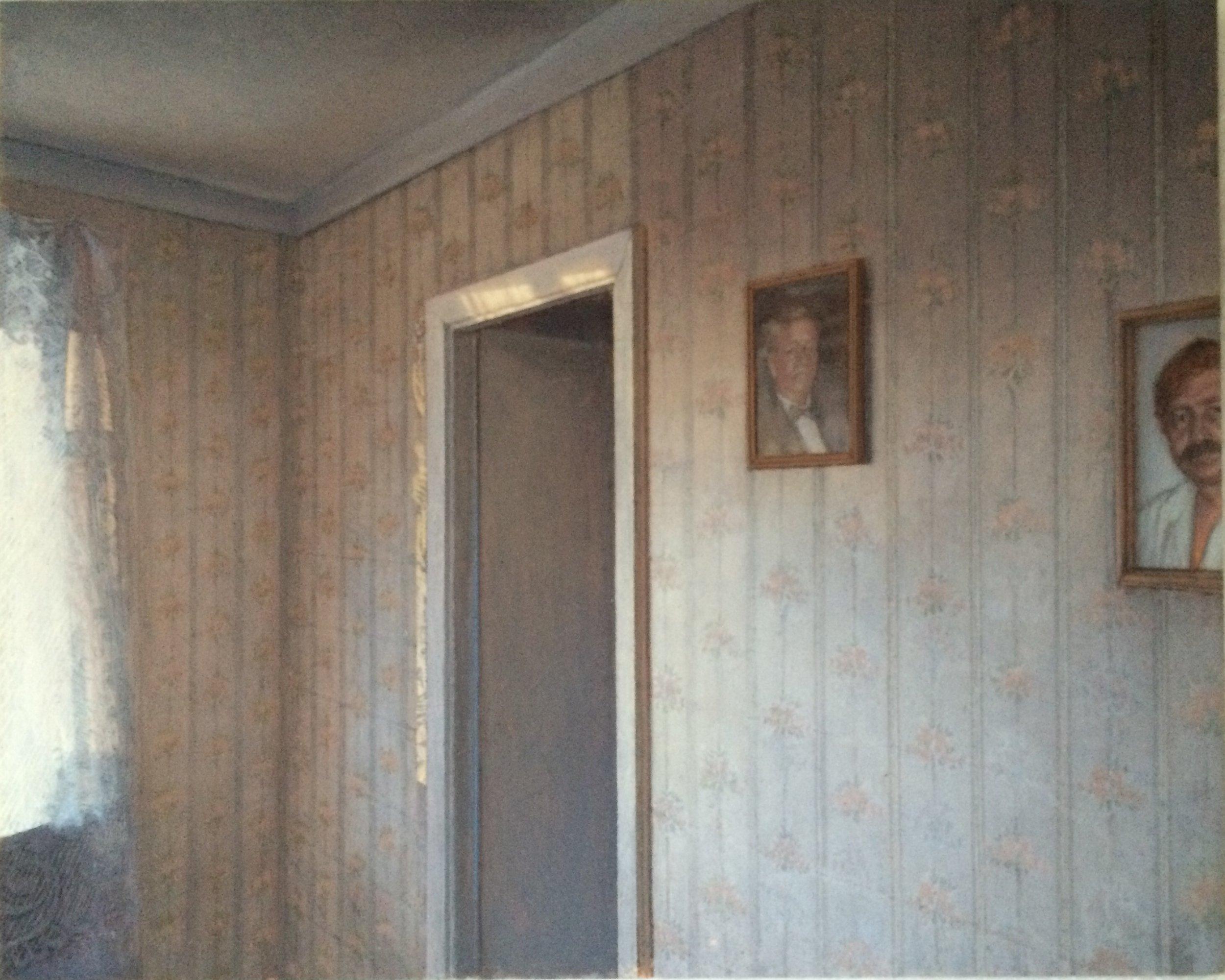 "Wall, Vitebsk  Oil on Mylar mounted to panel  8"" x 10""  $4,000"