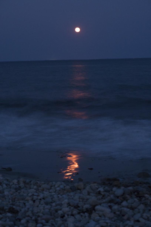 Moonlight Reflection, Buzzards Bay
