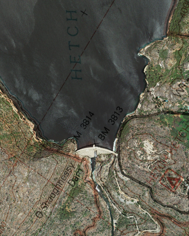 O'Shanghnessy Dam Satl/Topo