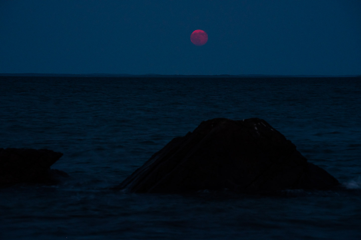 Blue Hour Pink Moon, Buzzards Bay