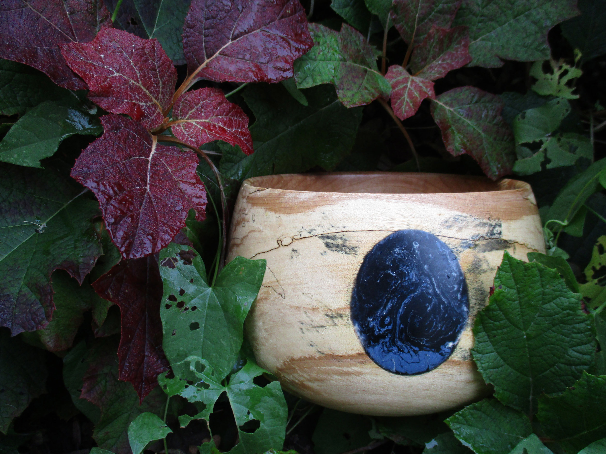 Sr. Gregory Healy Ppalted maple                  bowl with epoxy and acryllic.jpg