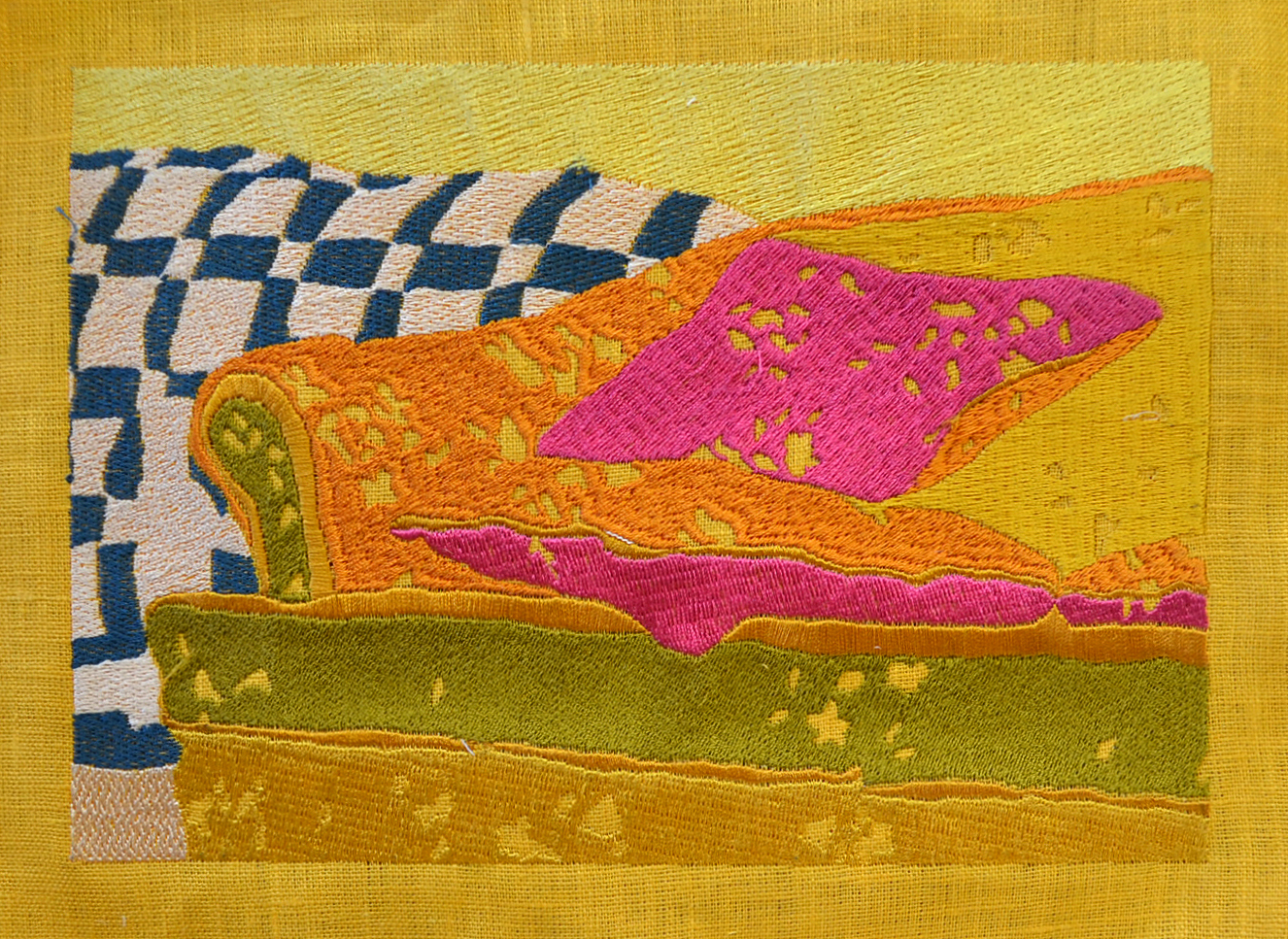 Embroidered Couch no. 6