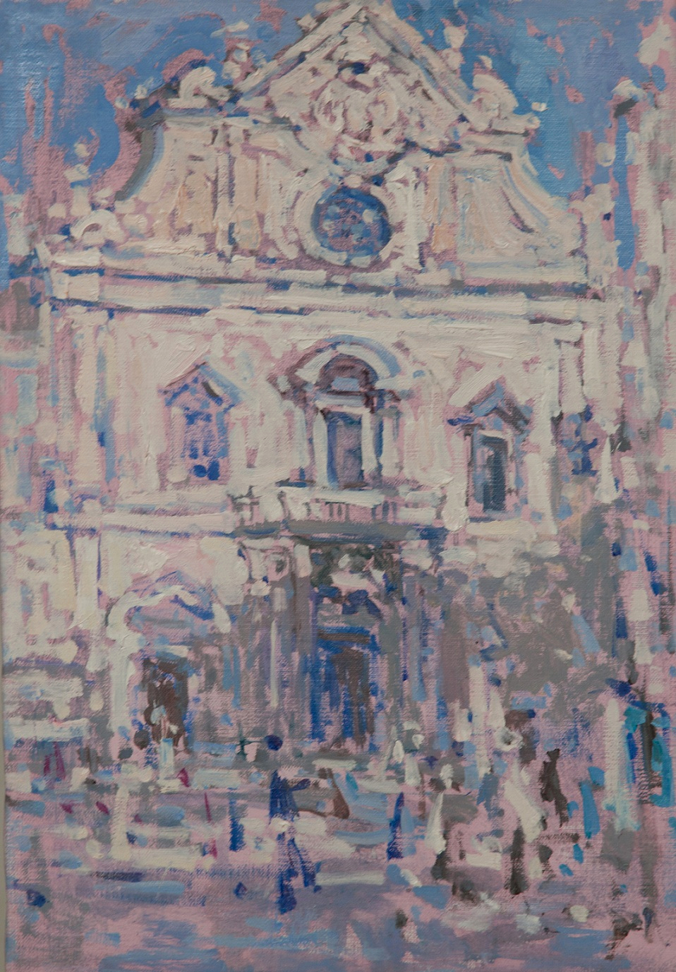16.Igreja de Sao Domingos, oil on canvas, 44x31cm.jpg
