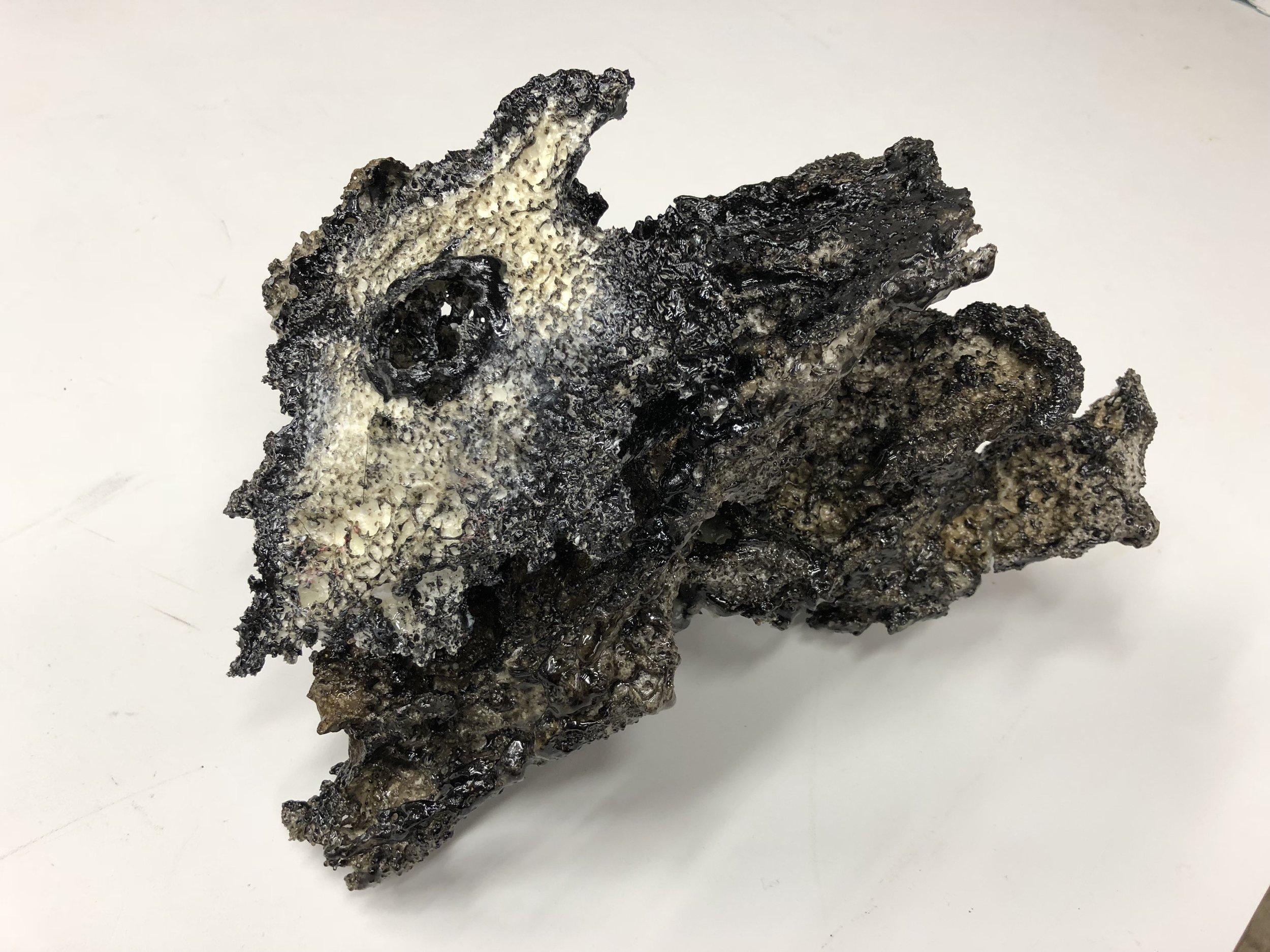 R Fishman %22Run Rabbit Run%22 2018  8' x10%22 x  7%22  polystyrene, resin.jpg