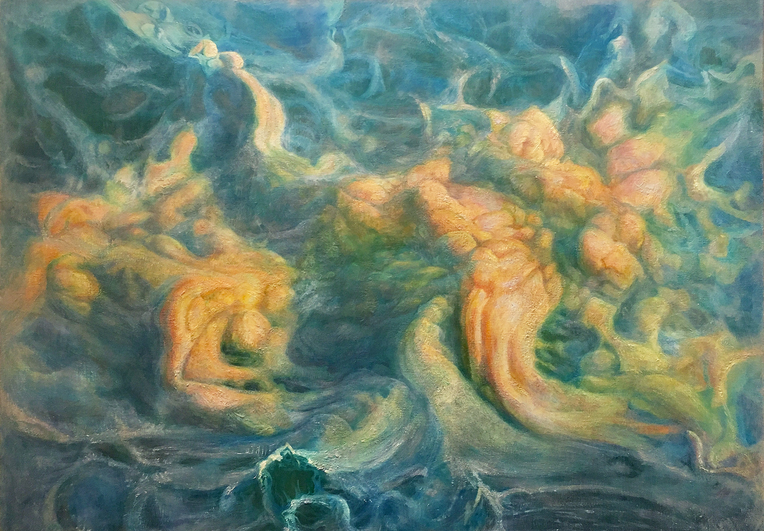 Octopussian Waystation, 2011-17, 54x78, oil on twill linen.jpg