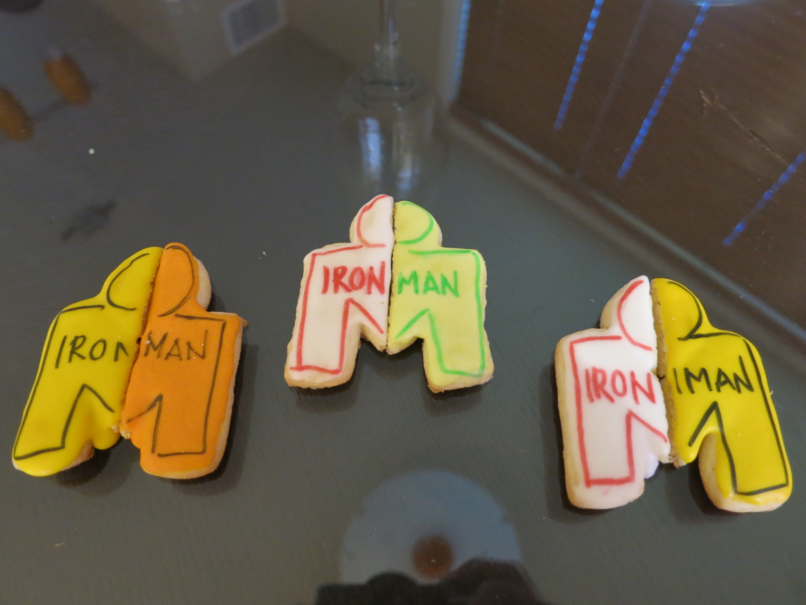Half Ironman cookies - as delicious as they are cute!