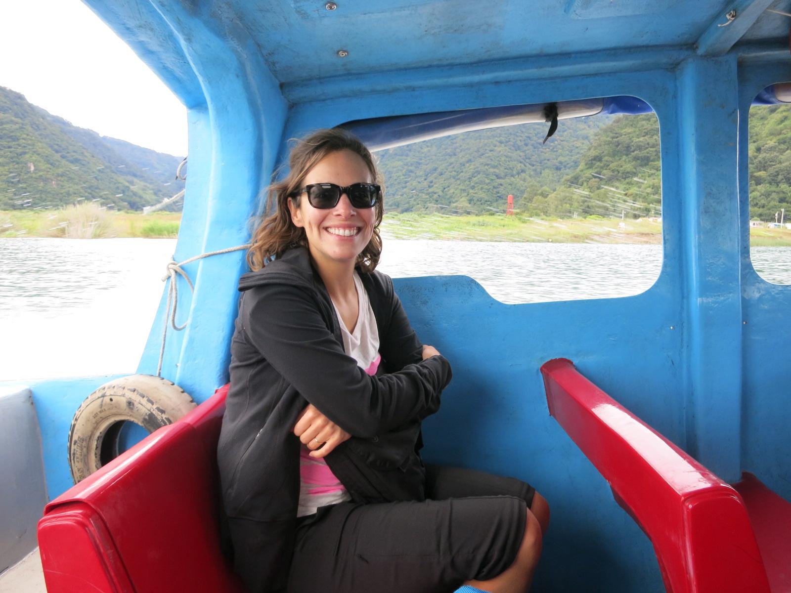 Me loving the boat ride back