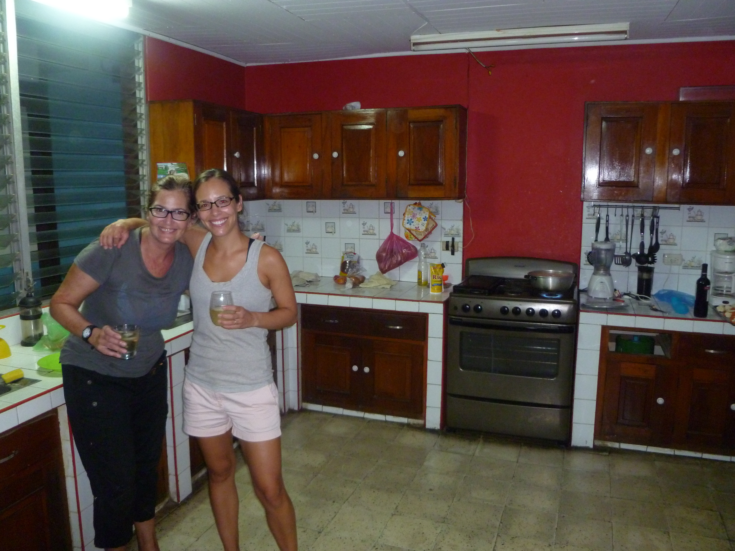 Melissa and I with our vino