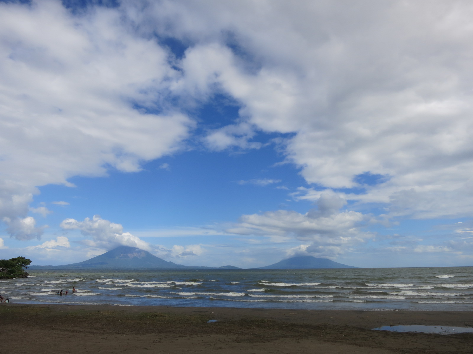 The view of Ometepe from land, in Rivas