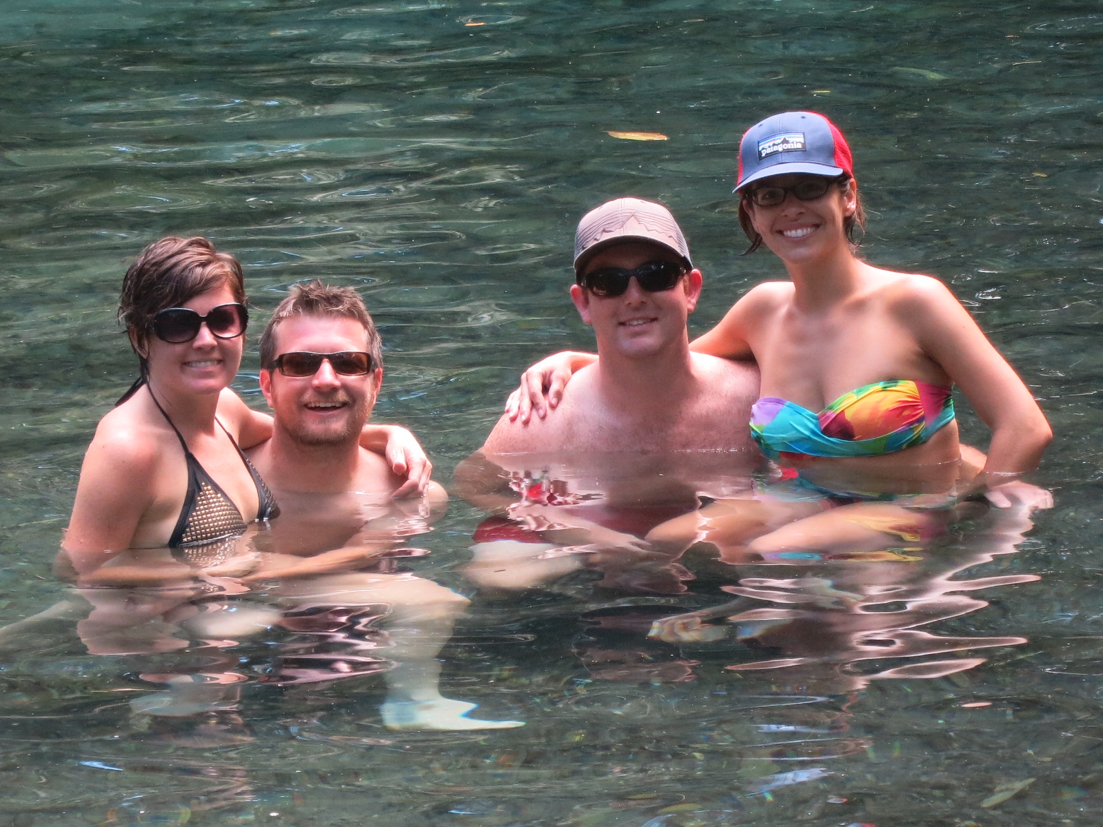 Swimming in the springs with Steve & Liz