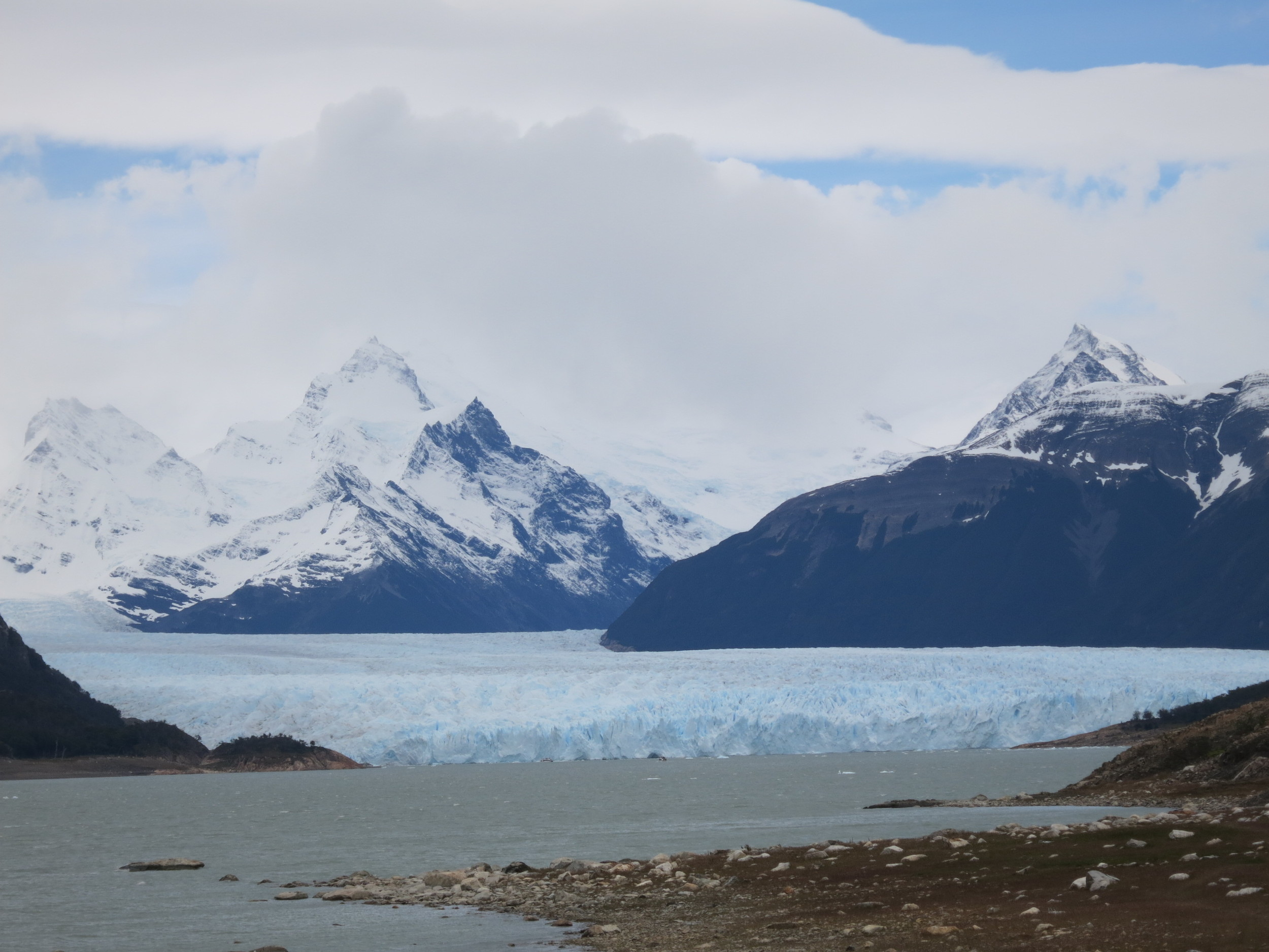 the glacier from afar