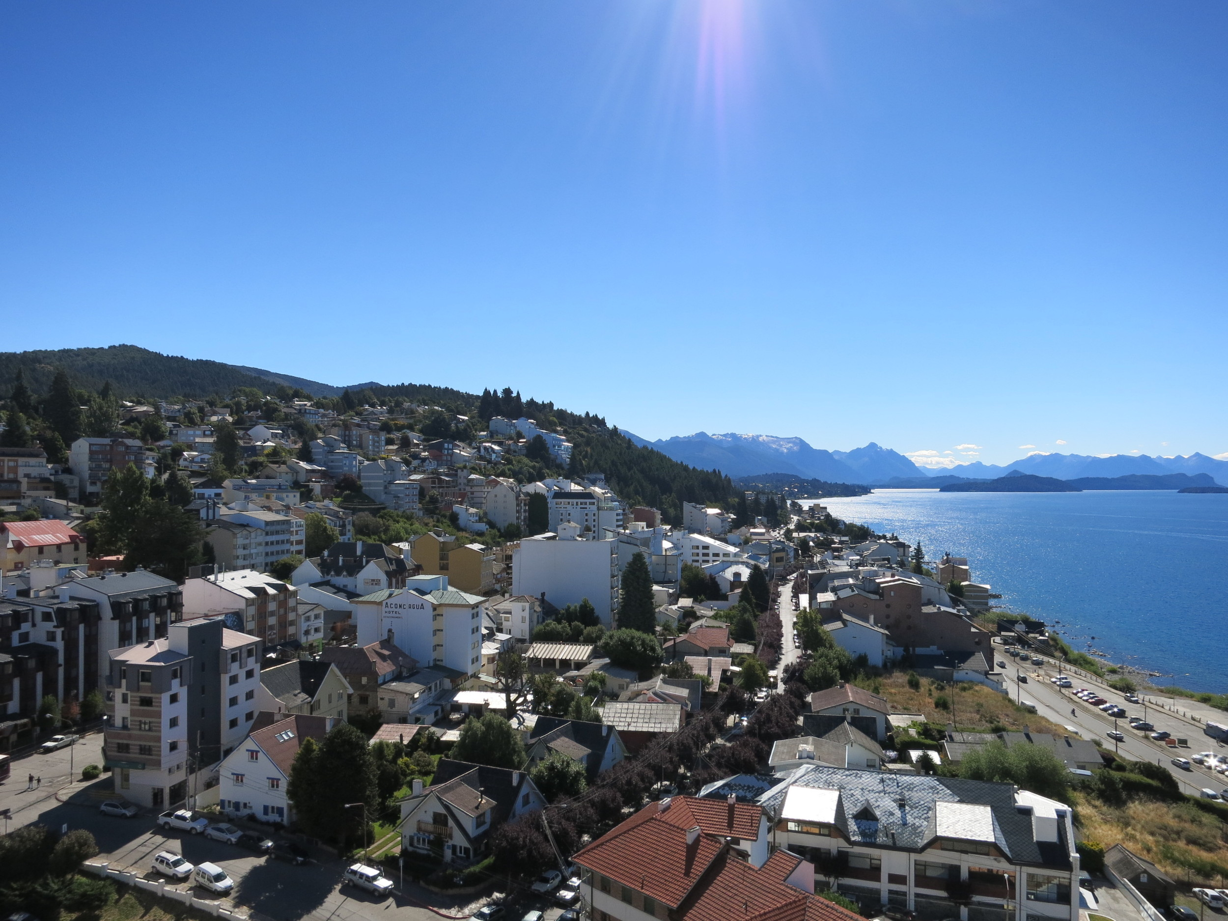 The view of Bariloche from a friend's place