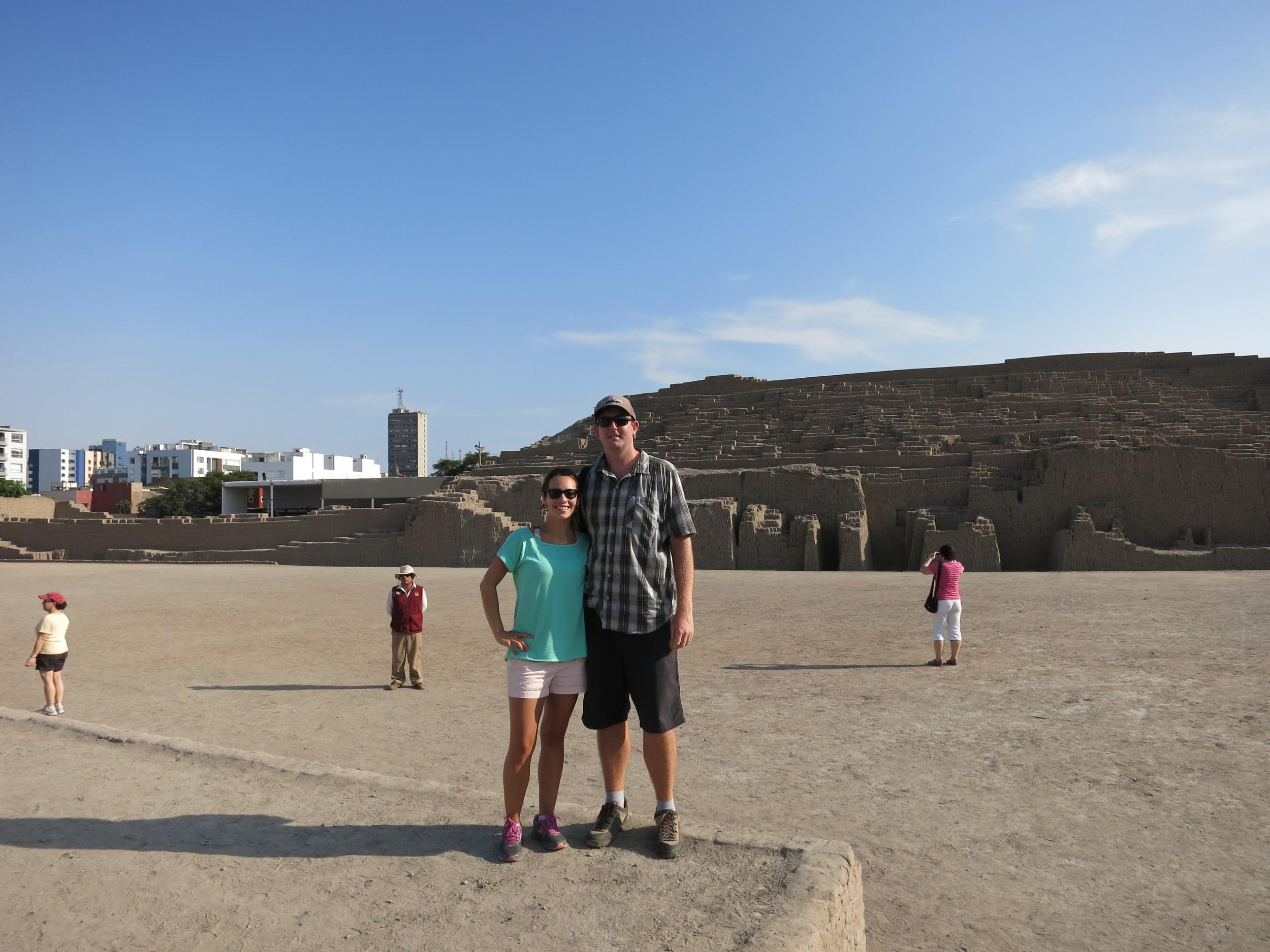 Us at Huaca Pucllana