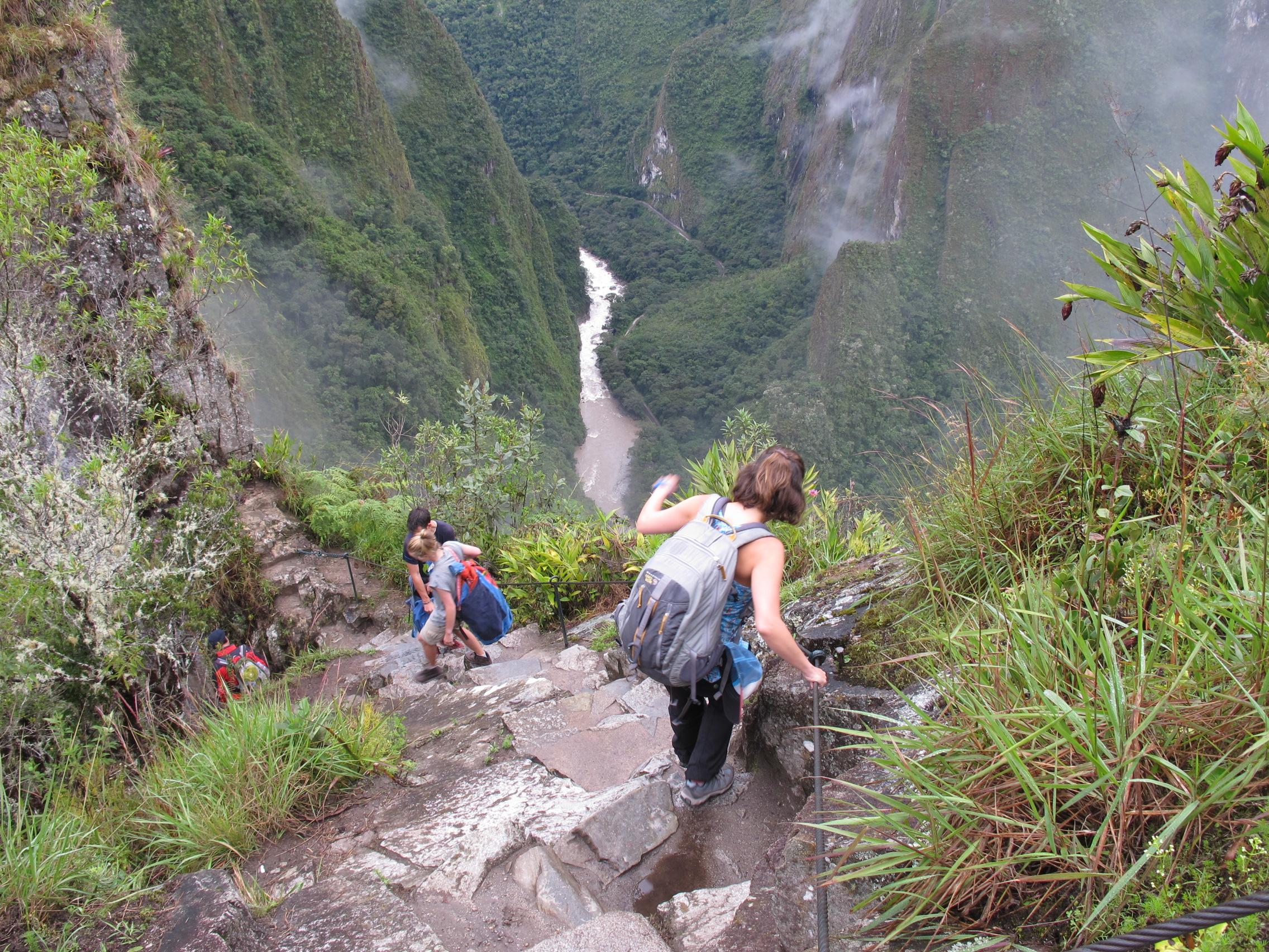 Steep trails throughout the climb!