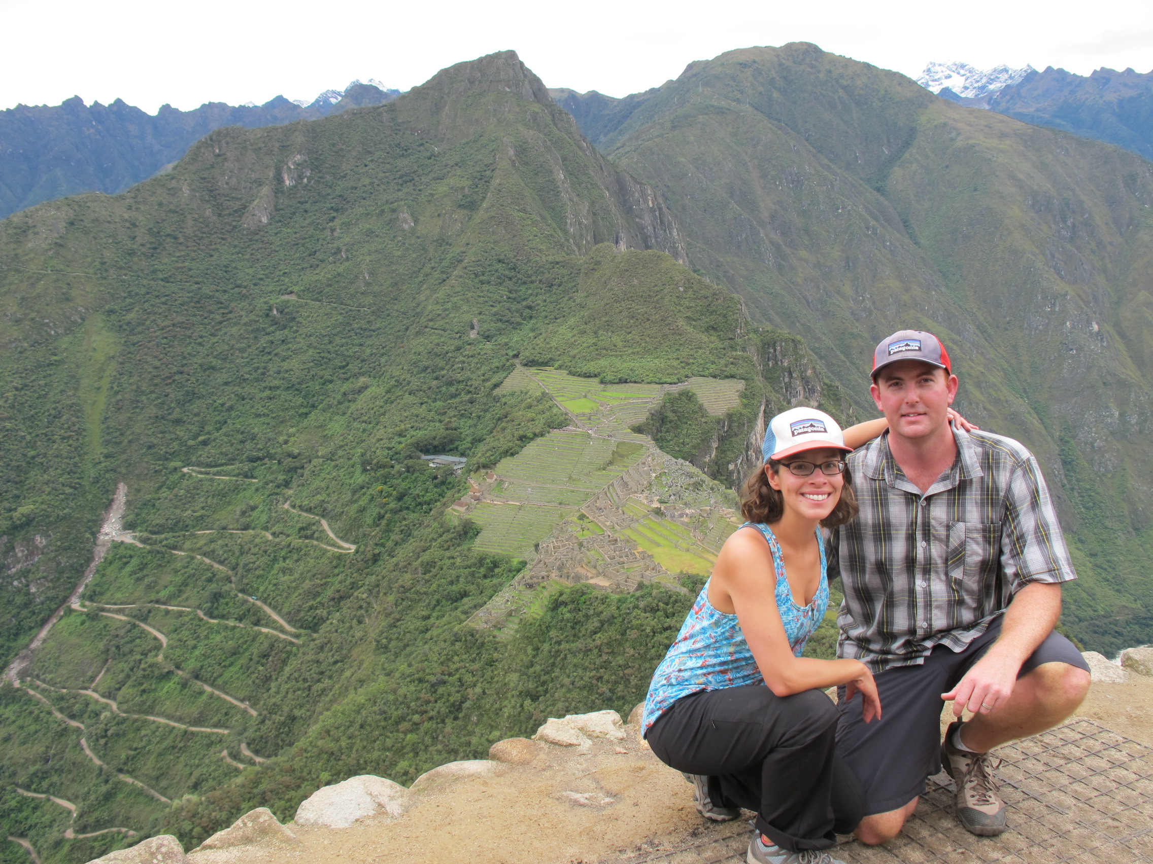 The view from Machu Picchu from the top of Waynapicchu