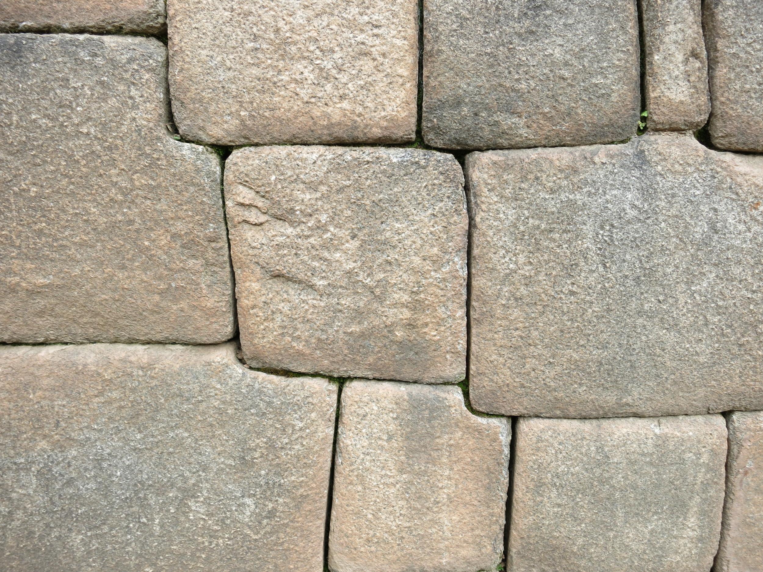 Close up of the Inka's stonework