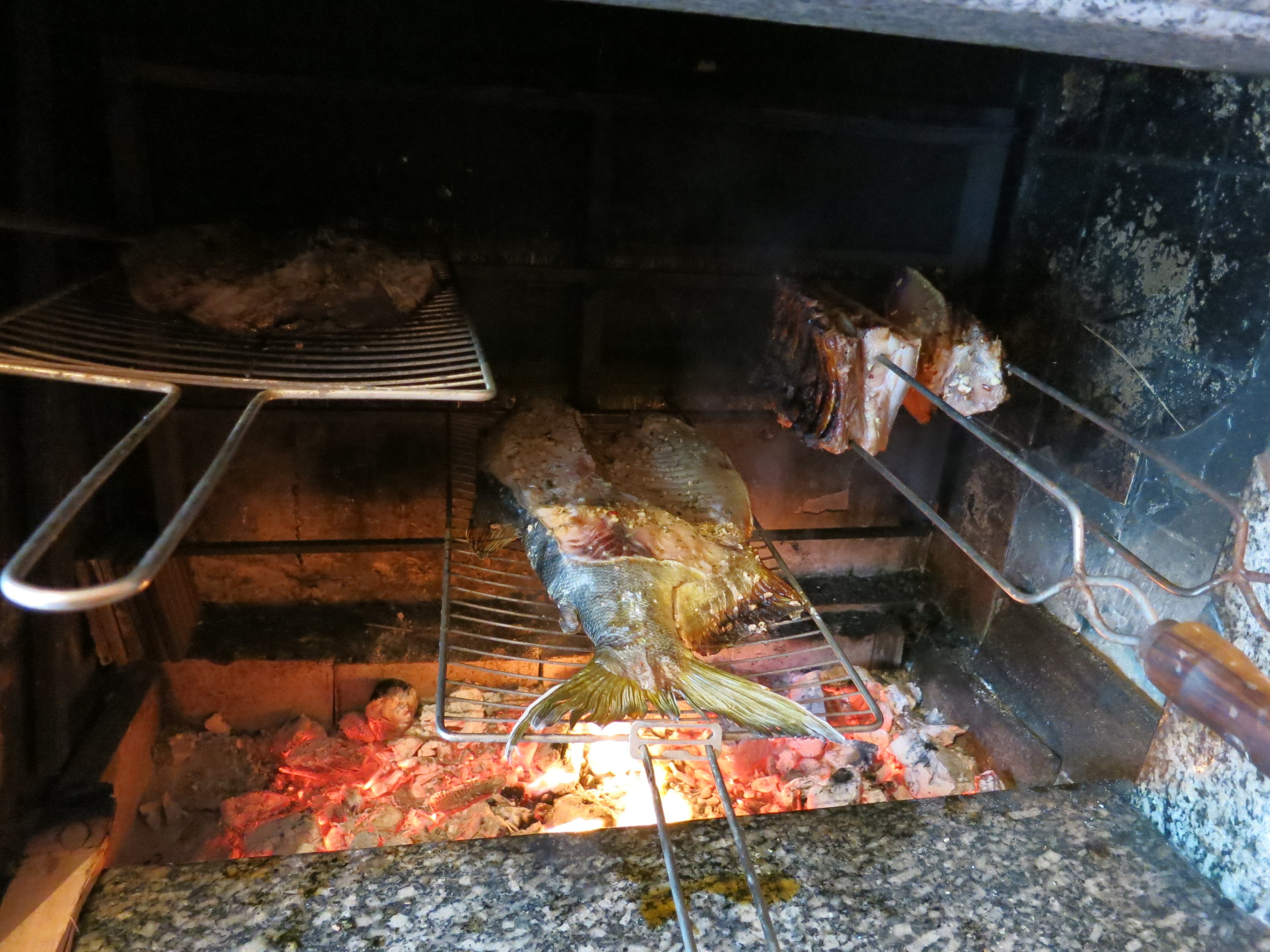 The bbq'd fish & meat