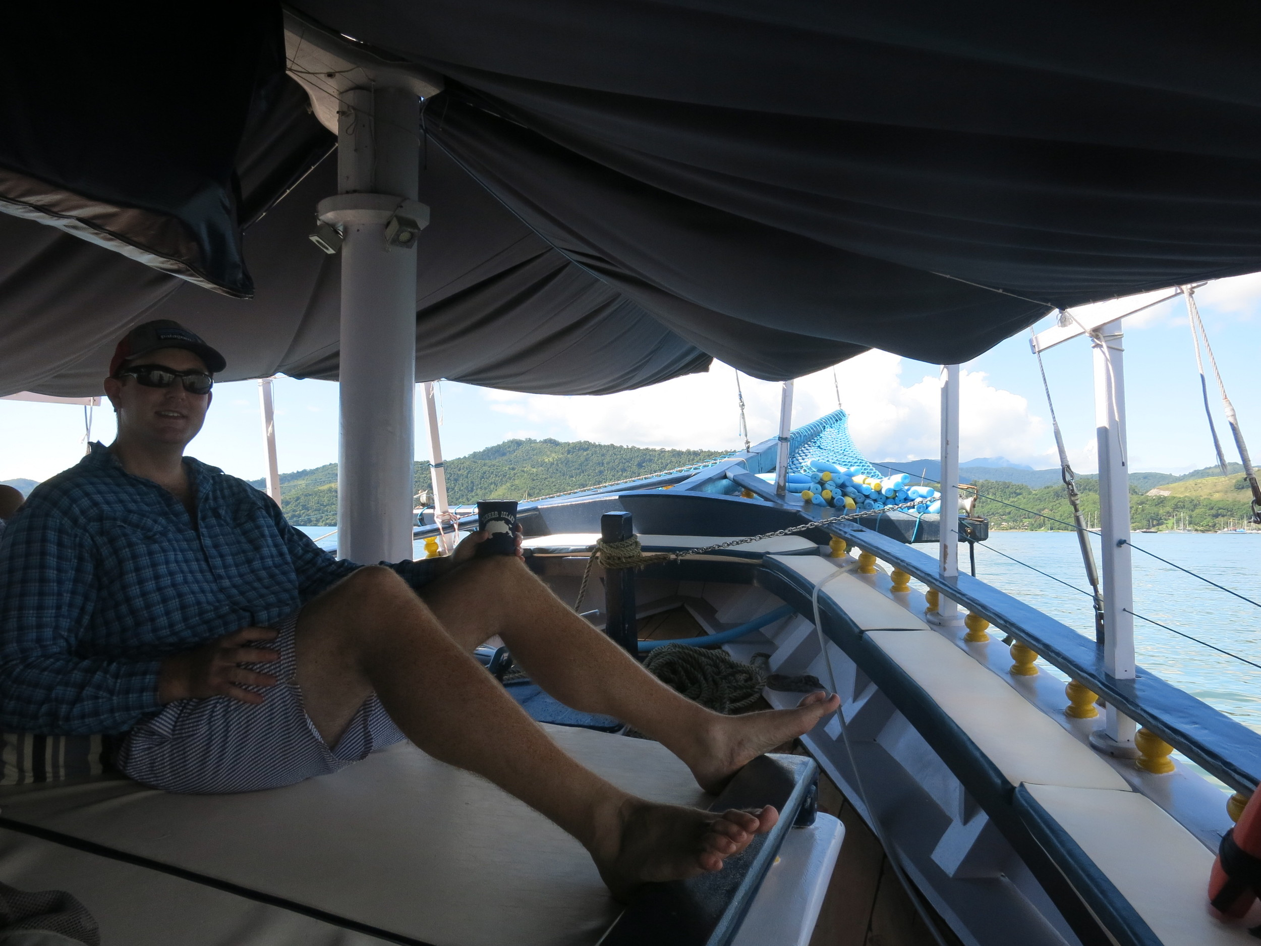 Eric on our yacht for the day