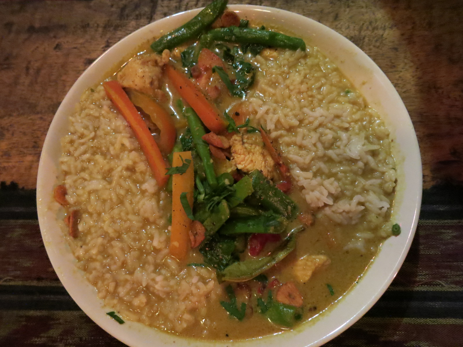 Eric's favorite: chicken curry from Bintang Bali Warung