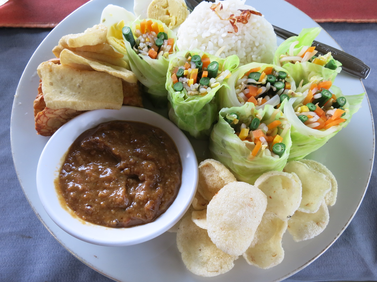 Gado gado at Happy Warung
