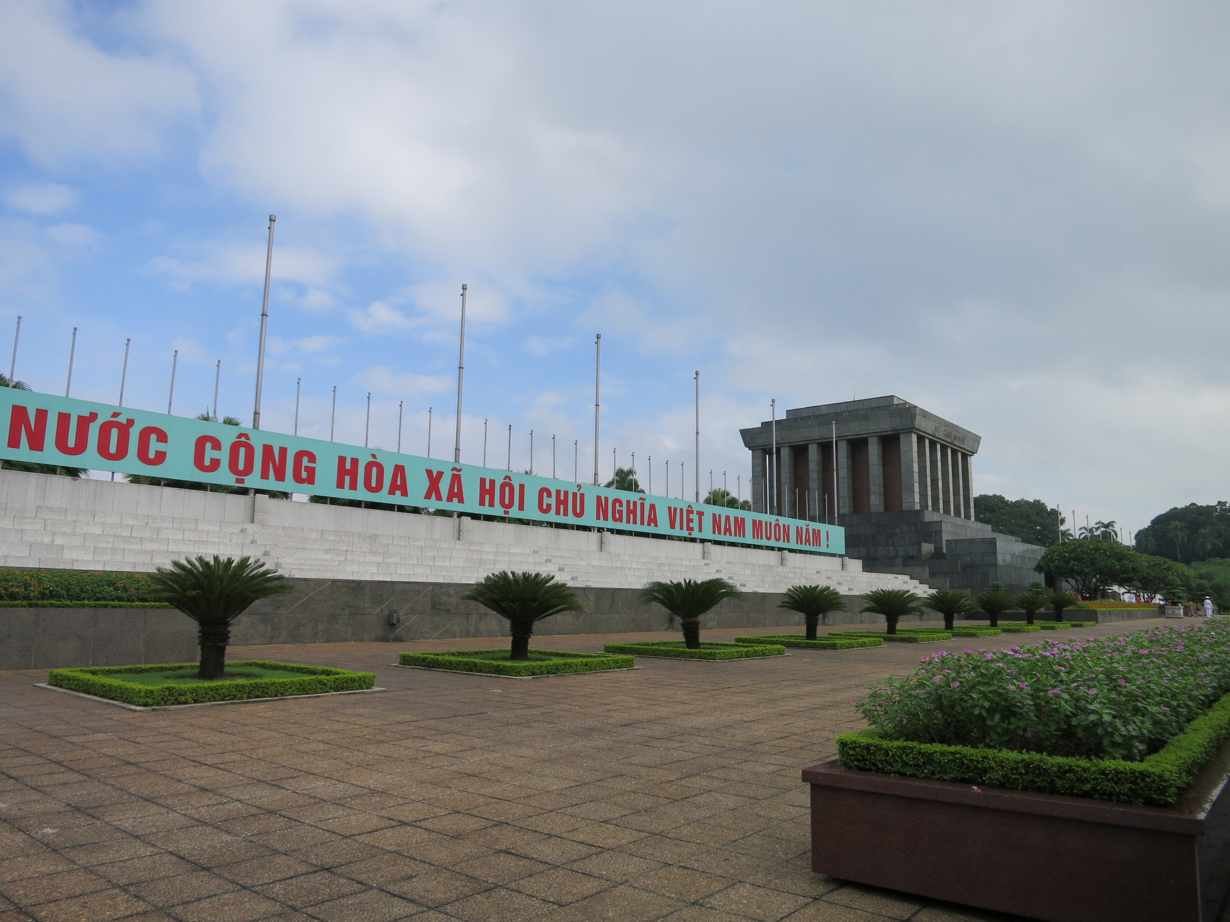 Outside of Ho Chi Minh's tomb