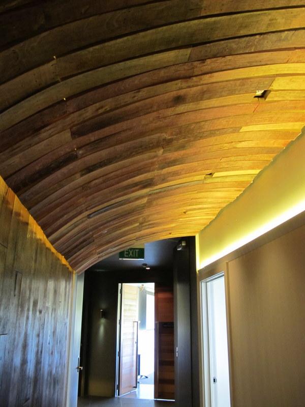 Wine barrel roof