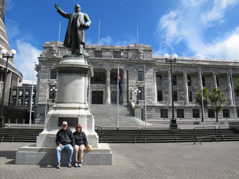 Tim and Lynn at Parliament