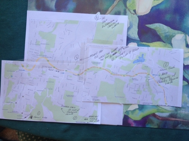 The map of what to do in the Blue Mountains