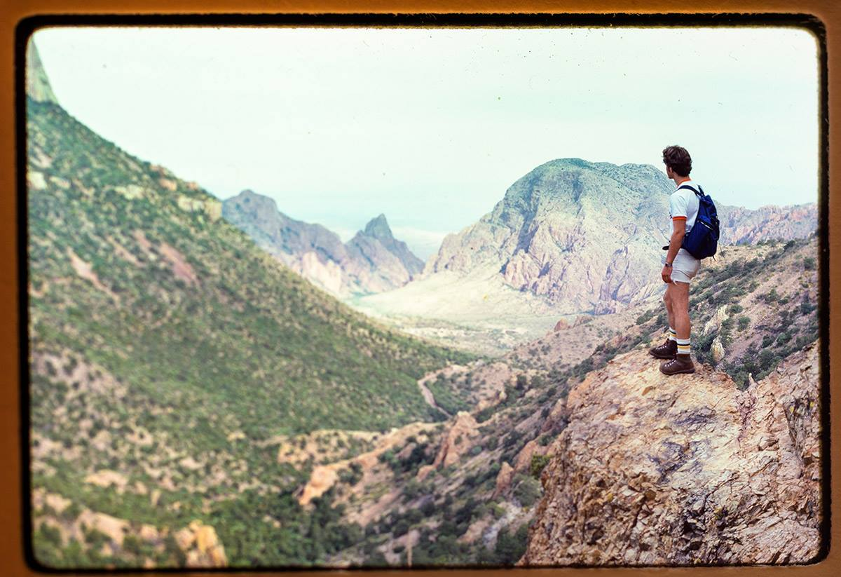 Yours truly, Lost Mine Peak Trail, Big Bend National Park ... 1978. The slide film is fading - the memories, never.