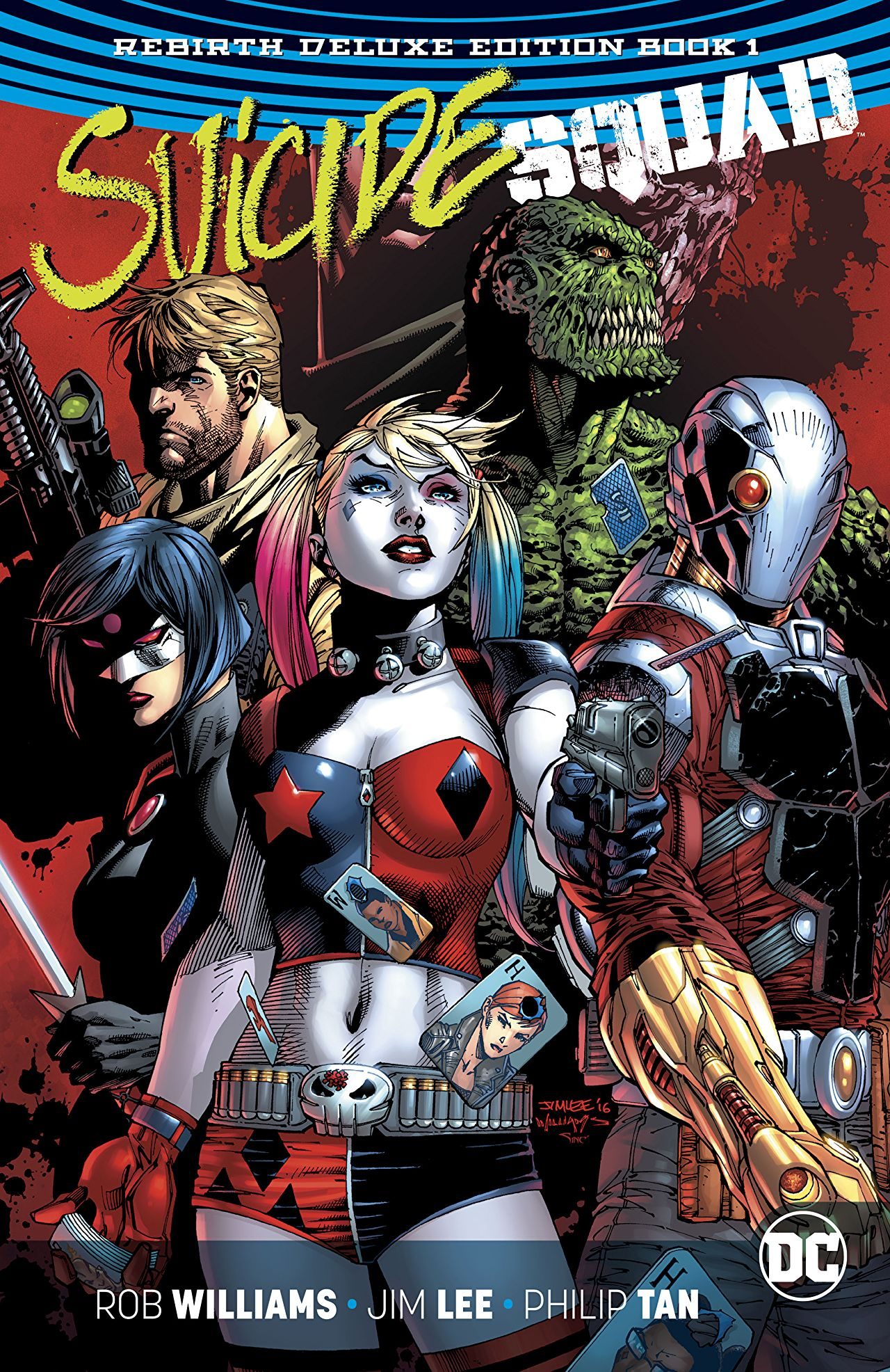 Story:  Rob Williams  Art:  Jim Lee, Philip Tan, Jason Fabok, Ivan Reis, Gary Frank, Stephen Byrne, Carlos D'Anda, Christian Ward, Giuseppe Camuncoli  Color:  Alex Sinclair, Brad Anderson, Marcelo Maiolo, Elmer Santos, Stephen Byrne, Gabe Eltaeb, Christian Ward, Hi-Fi  Letters:  Nate Piekos of Blambot®, Pat Brosseau, Josh Reed, Dave Sharpe  Cover : Jim Lee & Scott Williams & Alex Sinclair  Logo:  Tom Muller