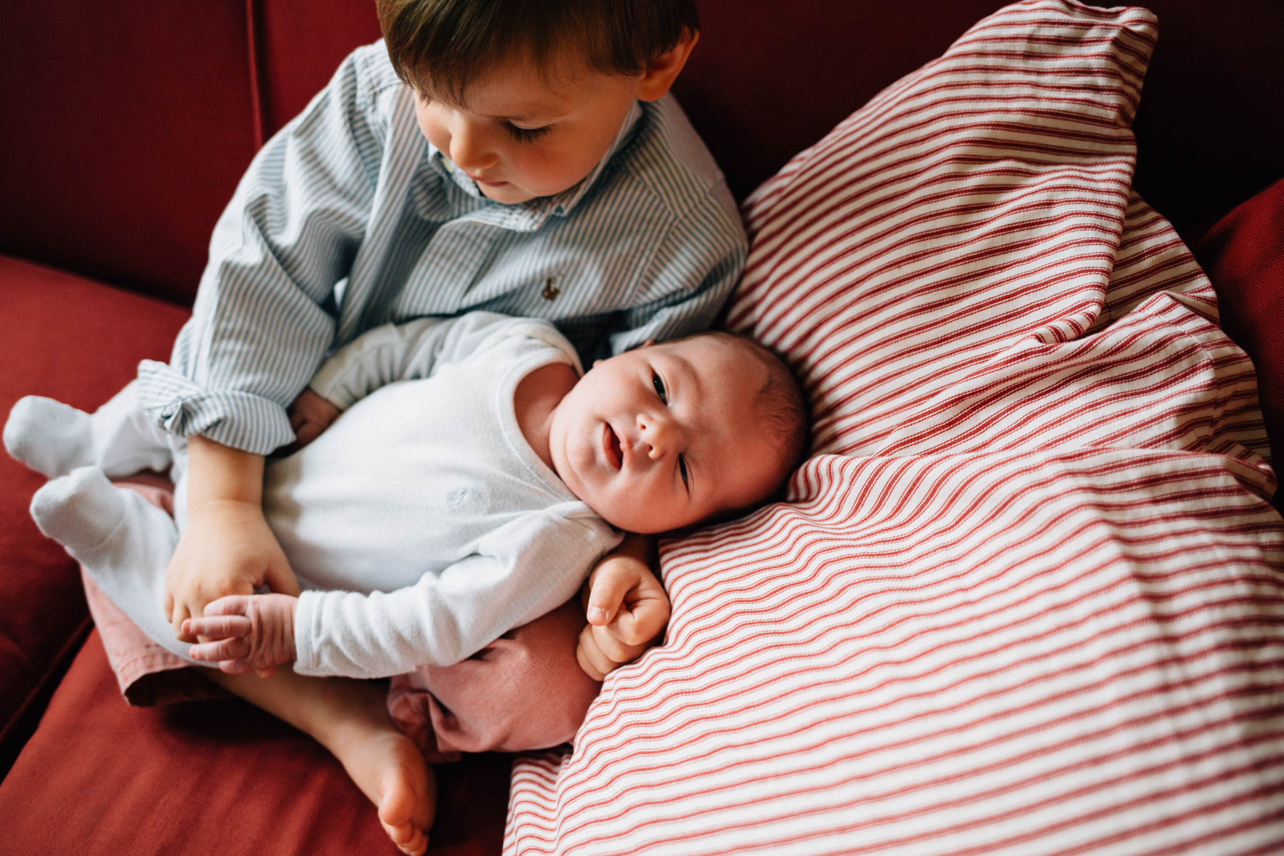 Baby Brother | Oak Park Lifestyle Newborn Photography