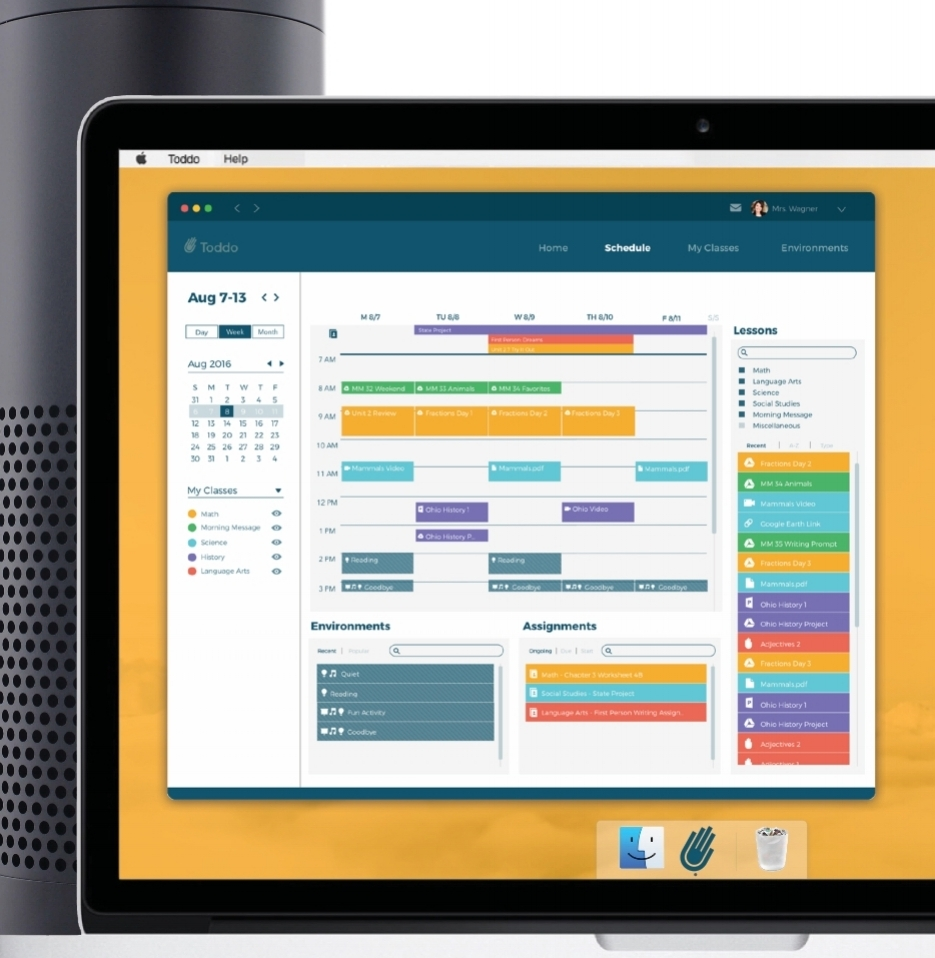 Classroom Interface    Voice UI Prototyping Application Prototyping