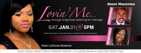 Flyer of Making Straights Paths' Markita Samuel speaking at a SIngles Conference