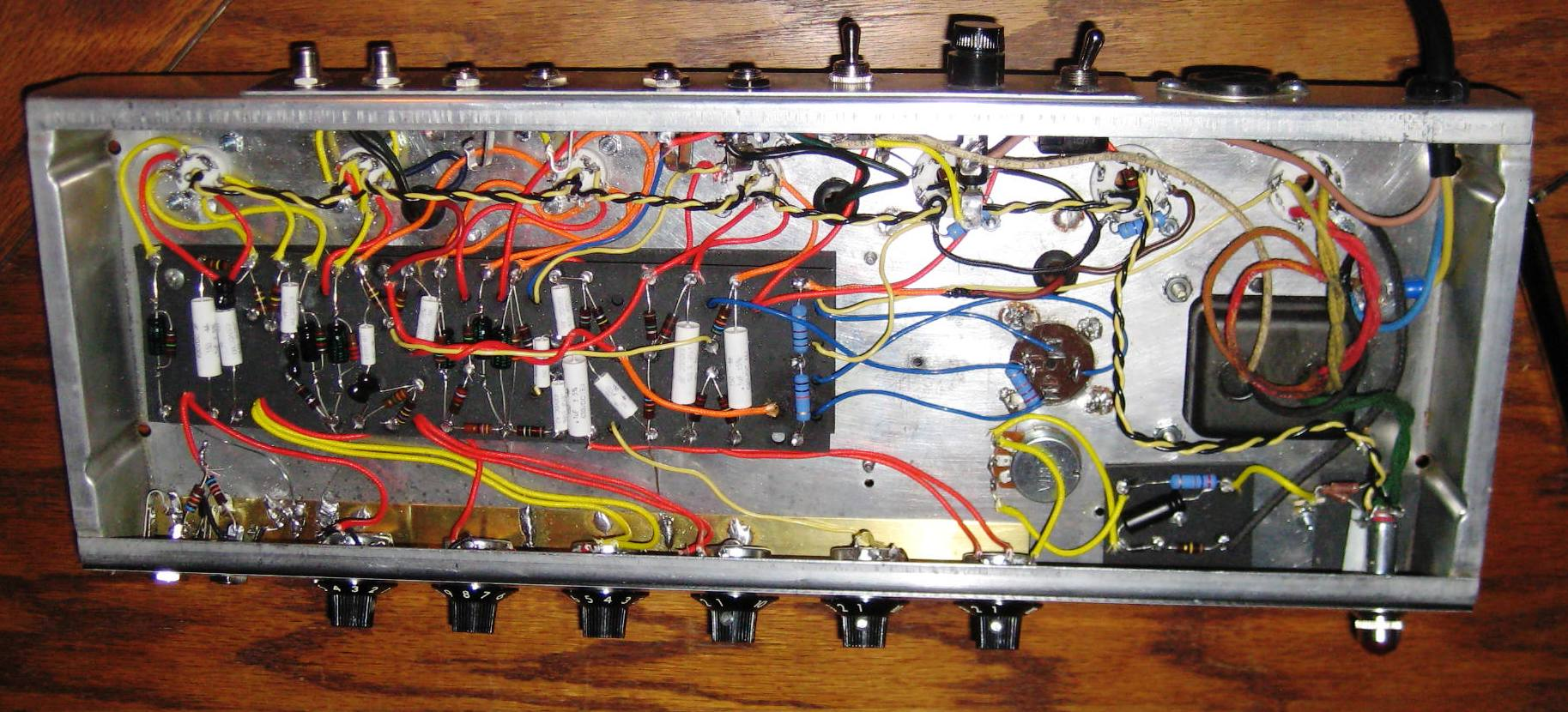 This Silverface Princeton Reverb came in and looked as if it had been under water! I stripped it down and built a new circuit to Balckface Specs!