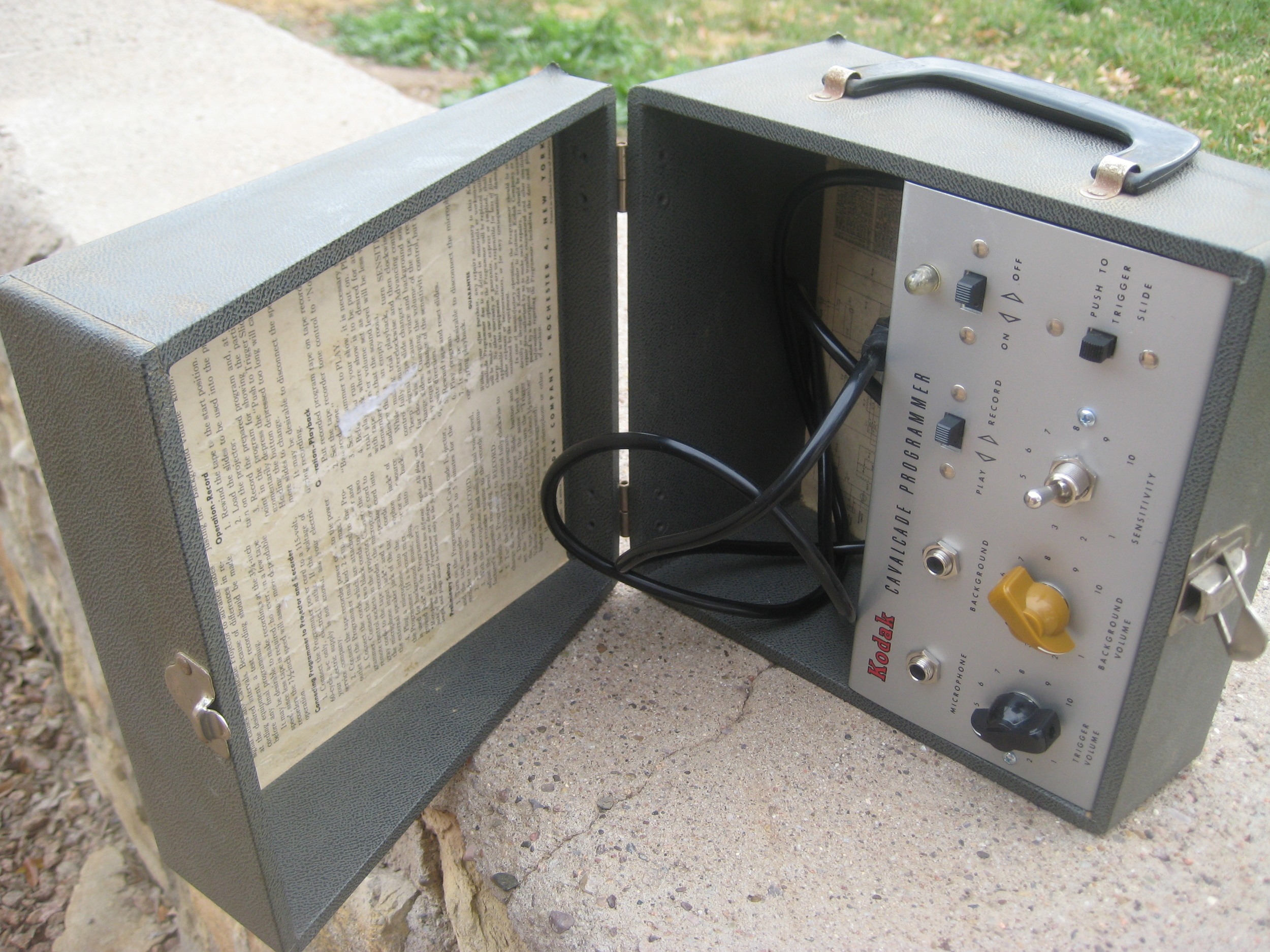 I converted this old Kodak Slide Programmer pre-amp into a high quality bass and guitar pre-amp. It has volume, tone and bass boost switch for controls. The new owner hooks it up to old solid state bass amp and was thrilled at the great tone!