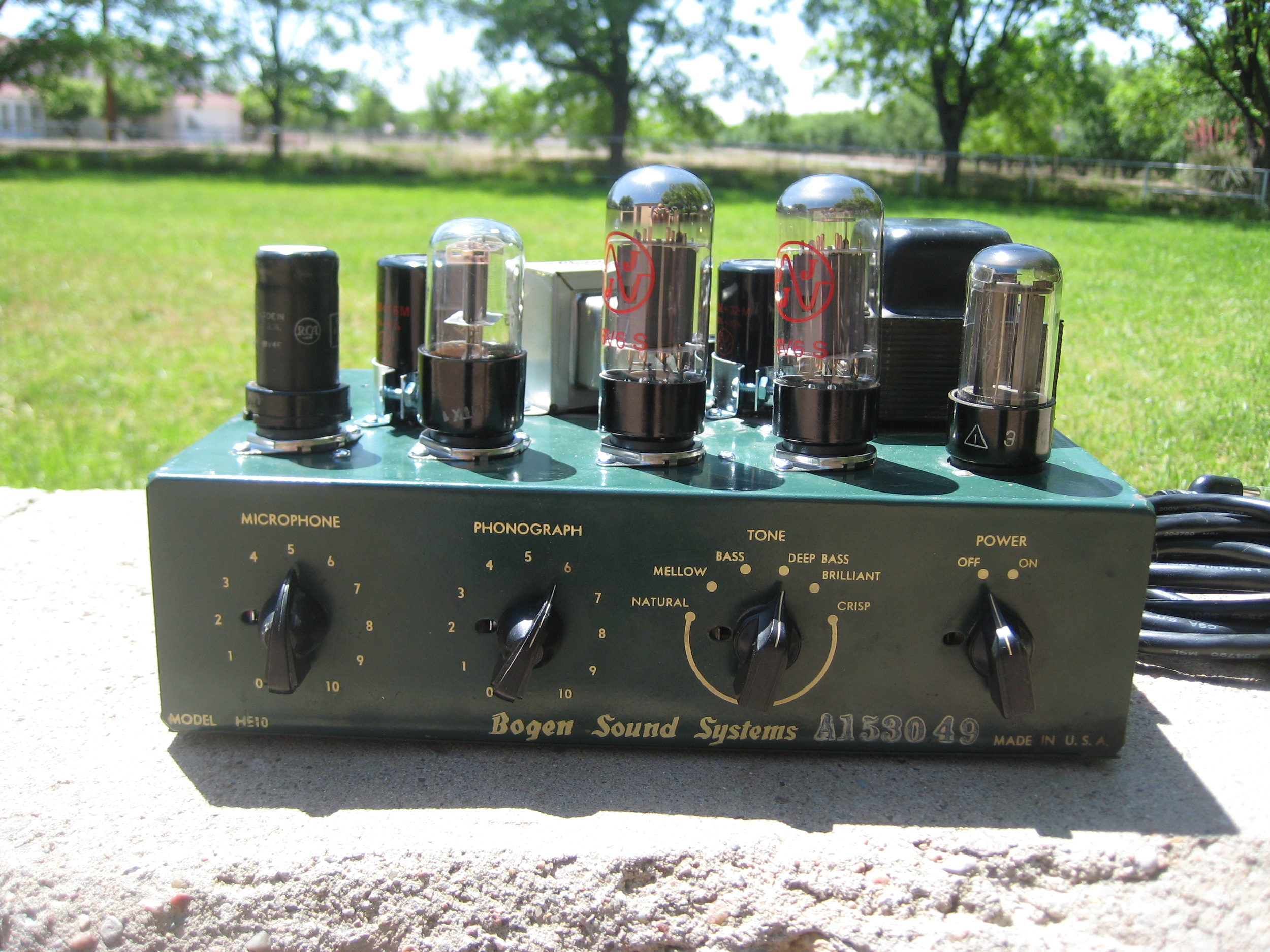 Bogen Deluxe/Supreme Conversion Amp. This one has a 6 way voicing switch that goes fro slicing treble to Bassman thick!